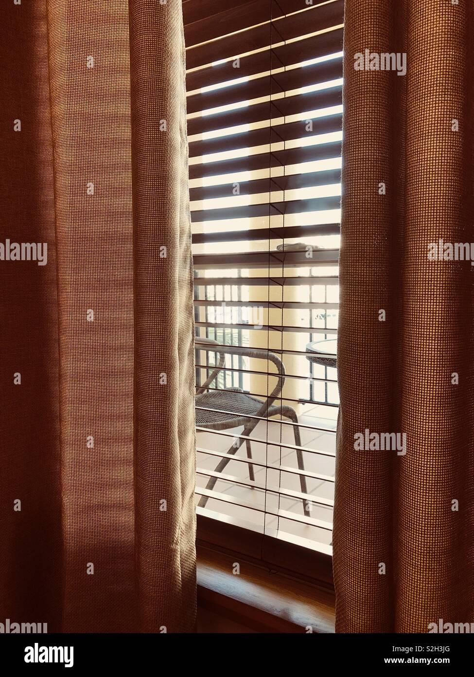 Looking through window - Stock Image