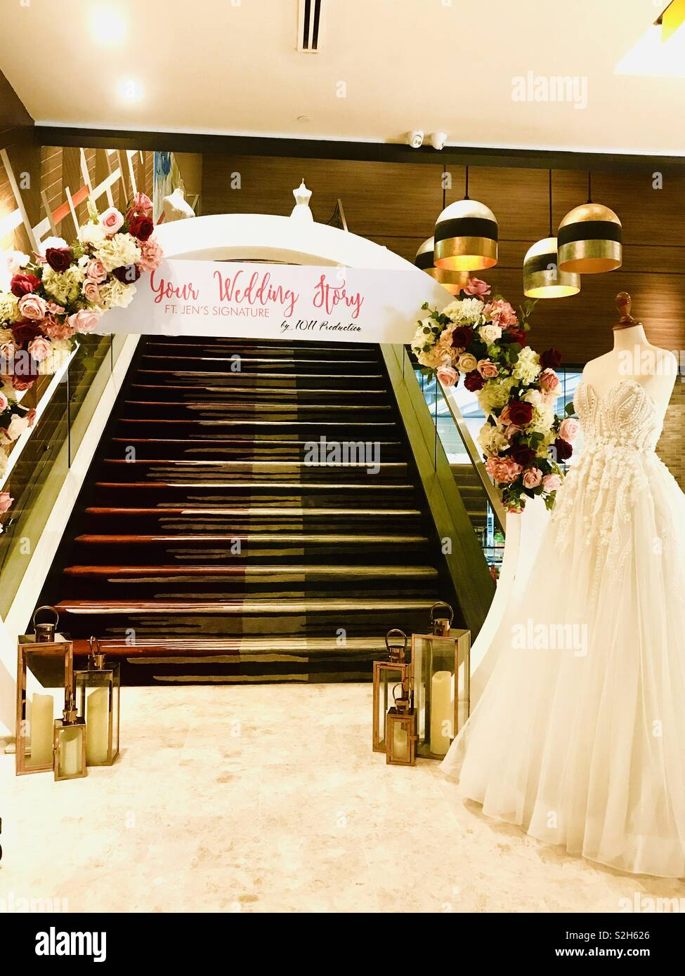 Wedding Staircase Flowers Stock Photos Wedding Staircase Flowers