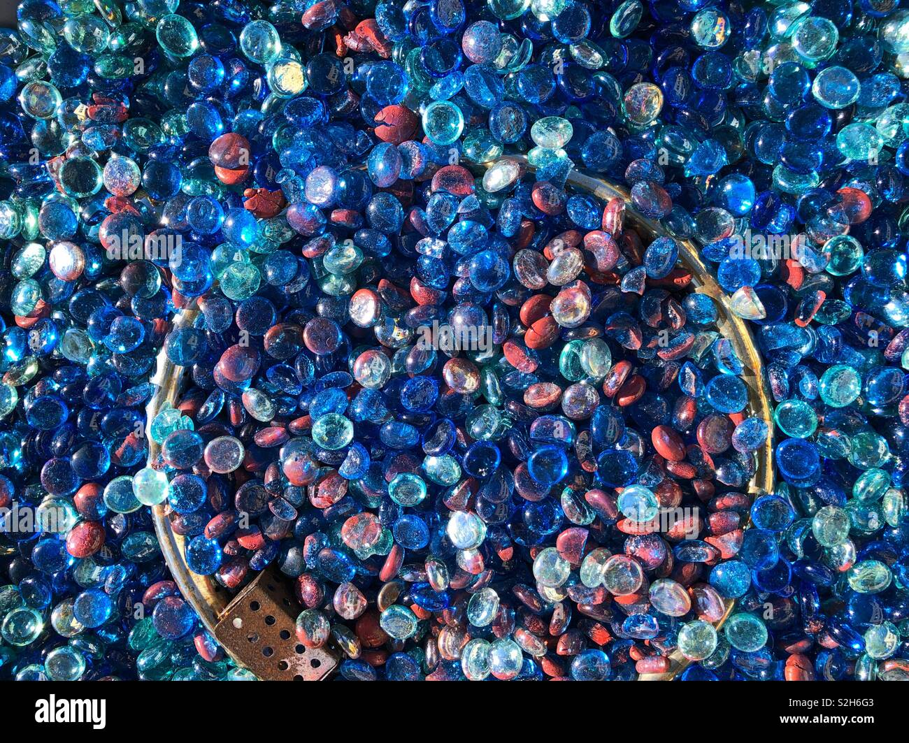 An abundance of colored glass chips - Stock Image