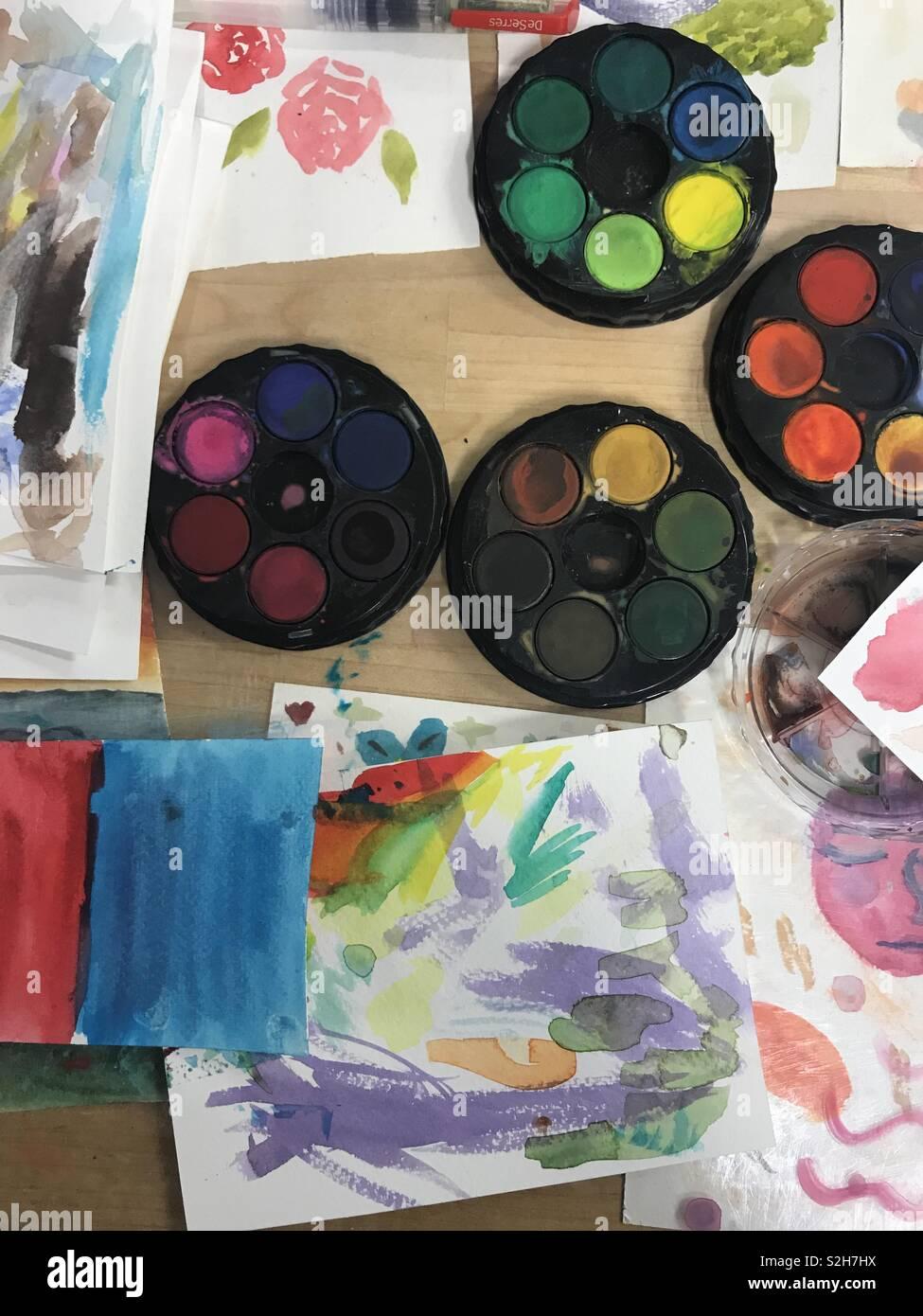 Art store - Stock Image