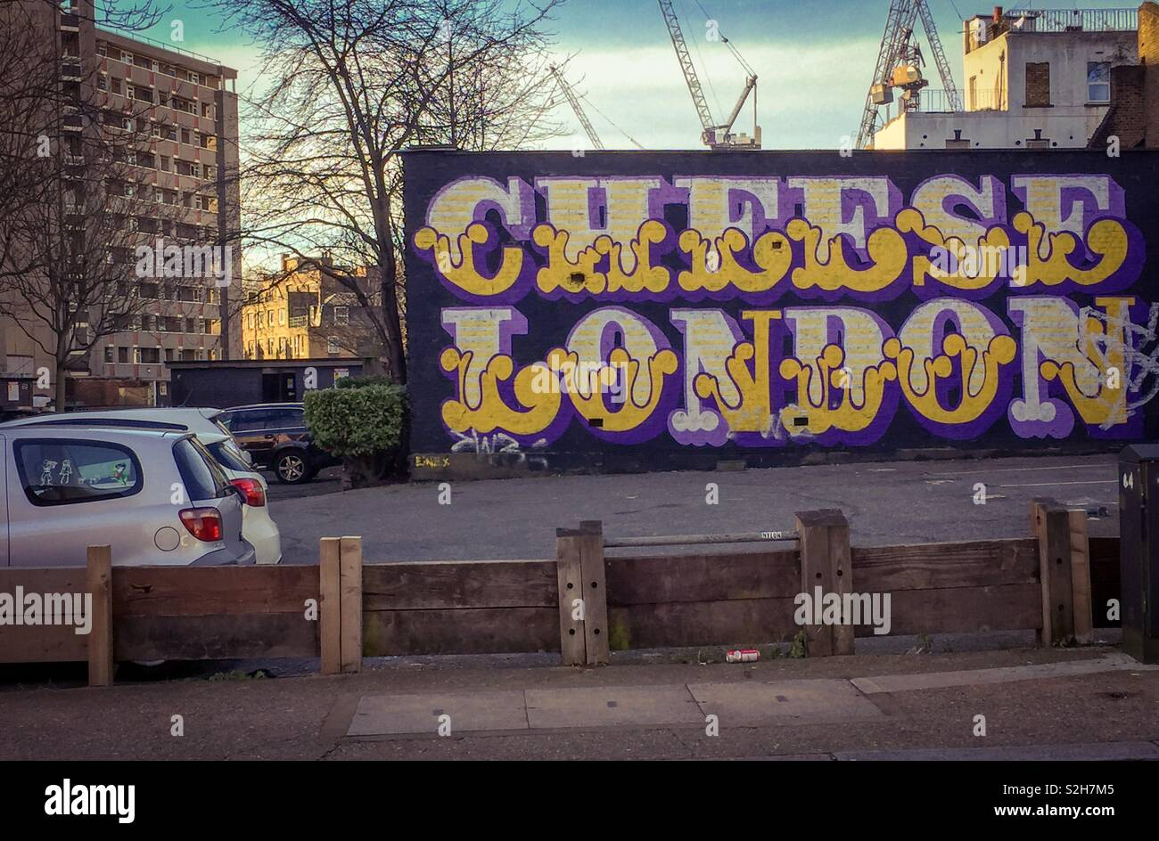 Street Art by Eine, East London - Stock Image