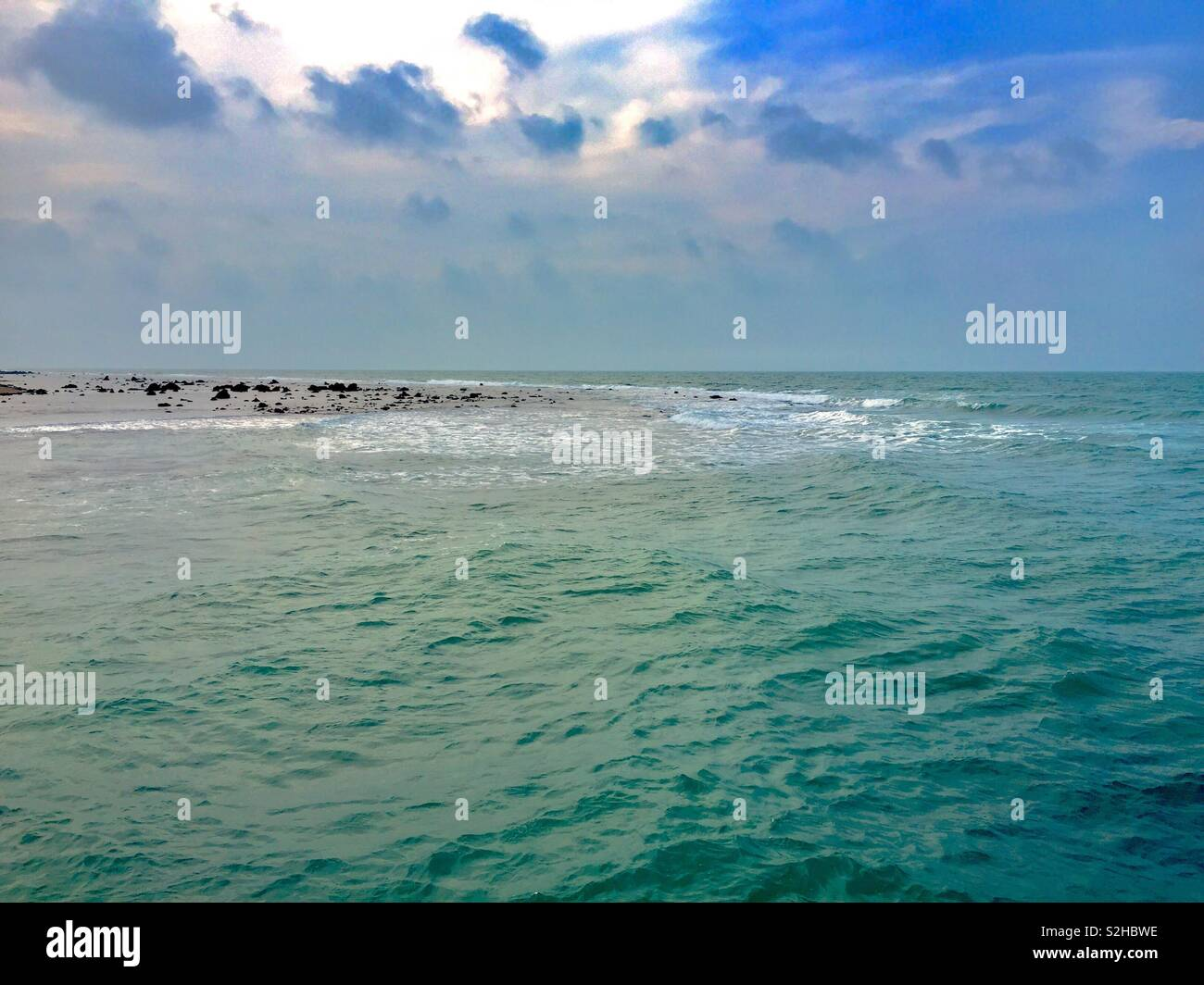 Nothern sea, srilanka - Stock Image
