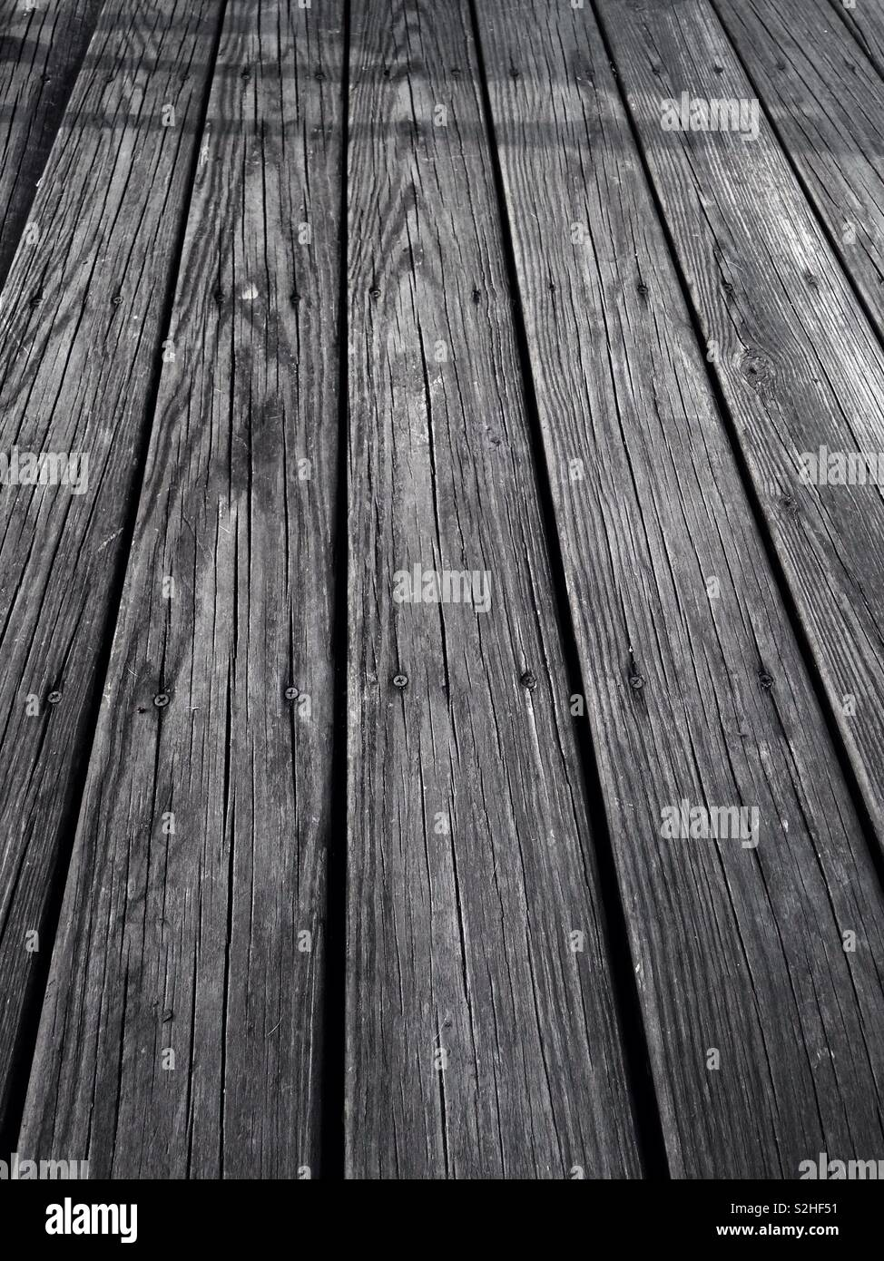 Wooden Deck Timbers - Stock Image
