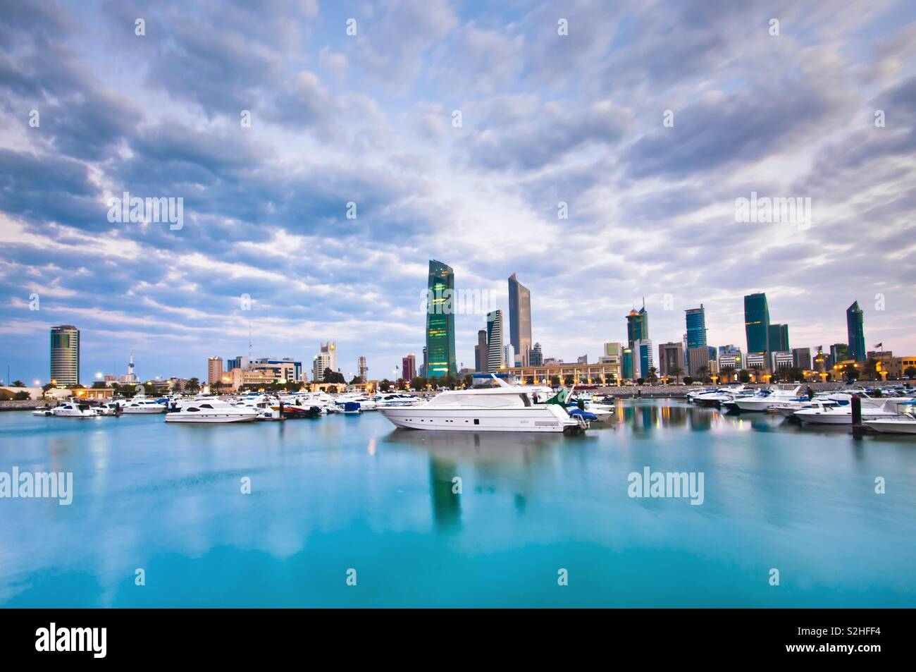 Kuwait City Clouds - Stock Image
