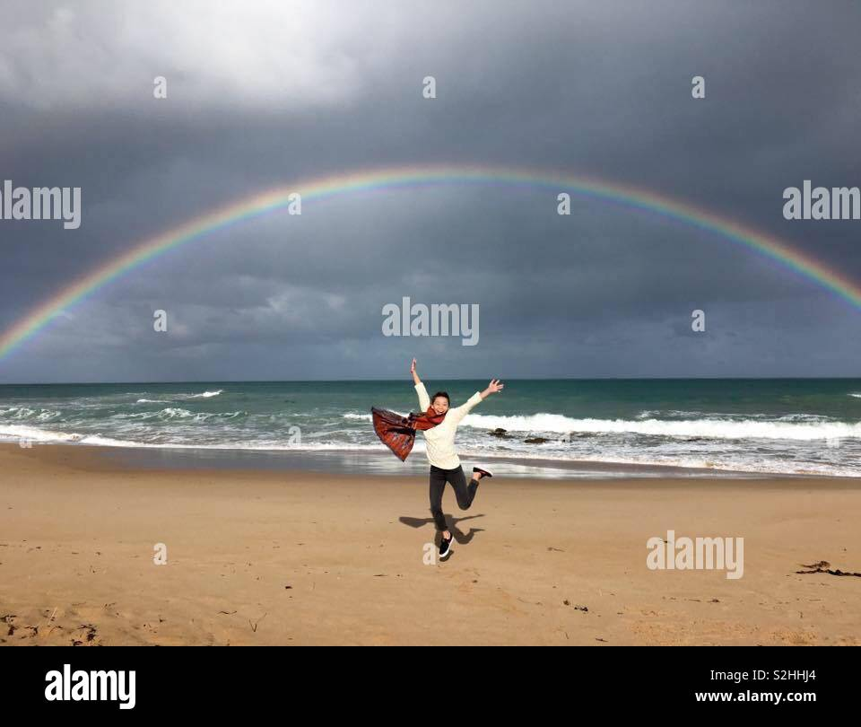 Over the rainbow, Melbourne - Stock Image