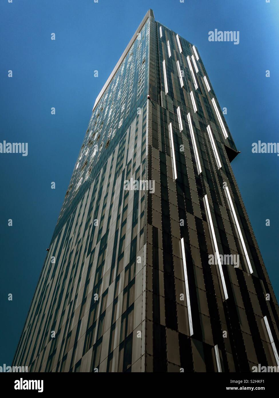 Beetham Tower Manchester UK.  Skyscraper designed by architect Ian Simpson - Stock Image