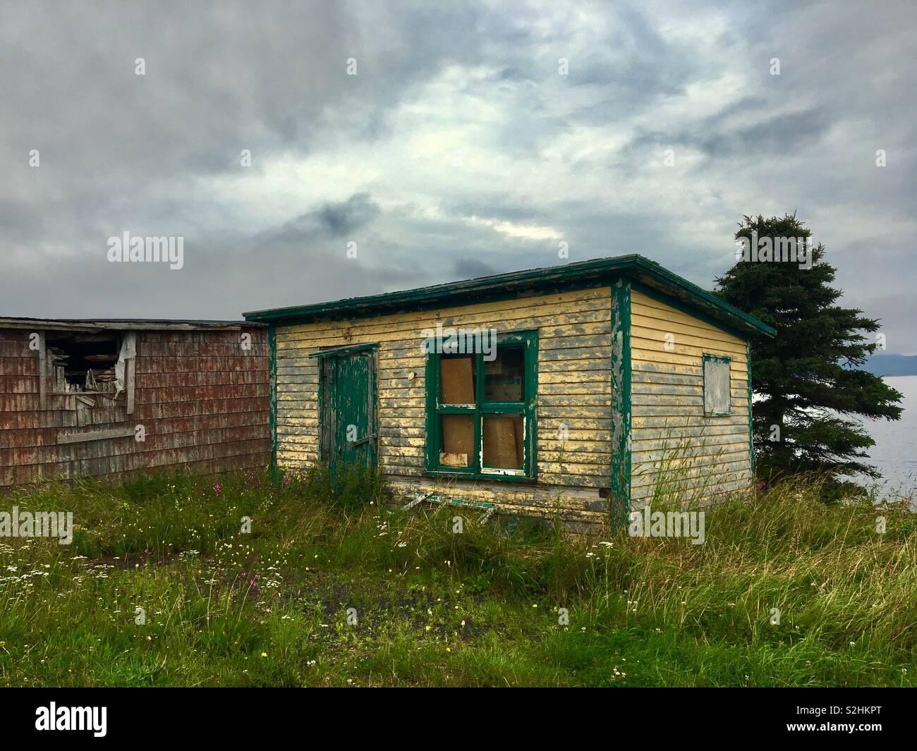 Old shack in Dildo Newfoundland Stock Photo