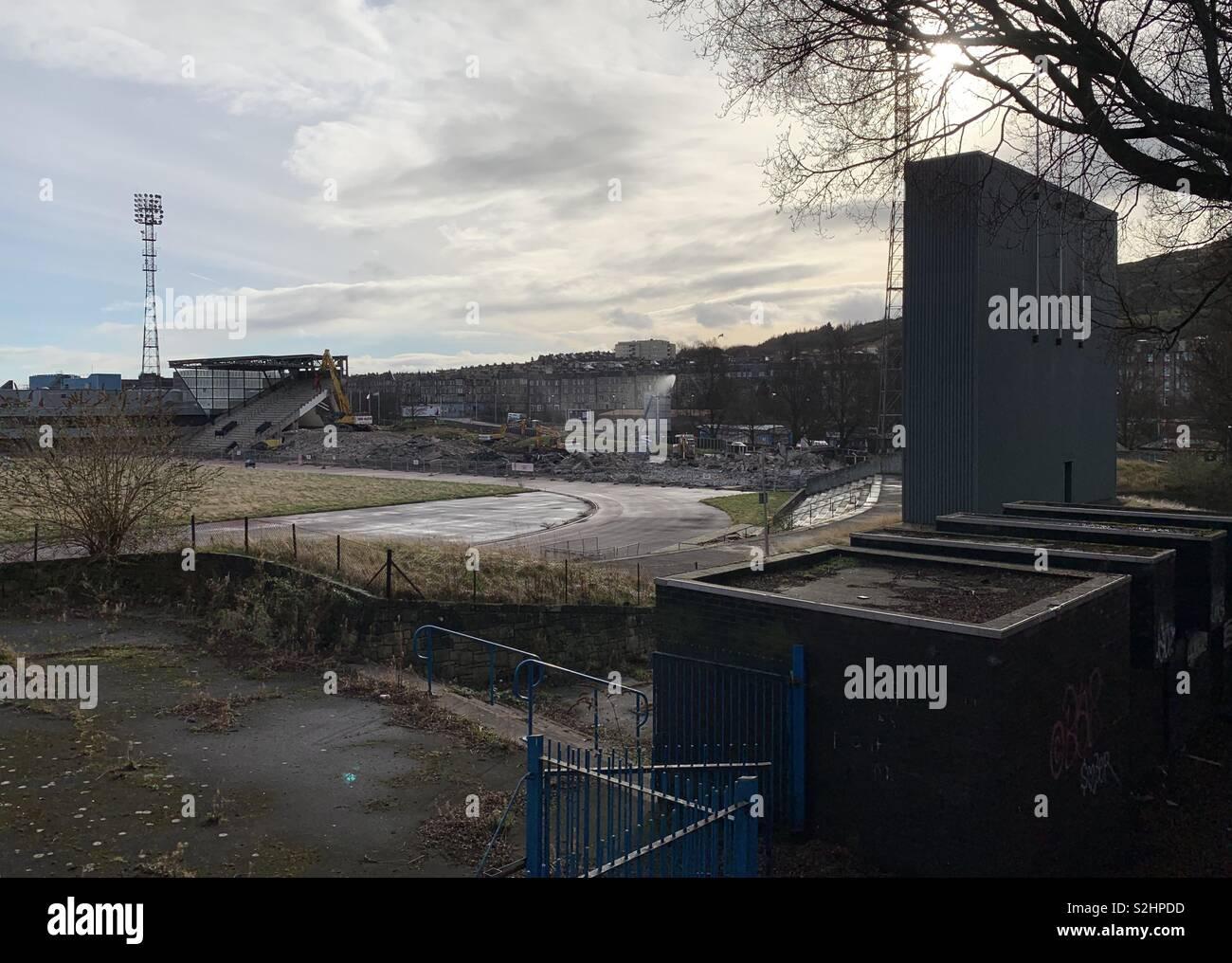 Tuesday 19th of February 2019: Edinburgh, Scotland. Demolition ...