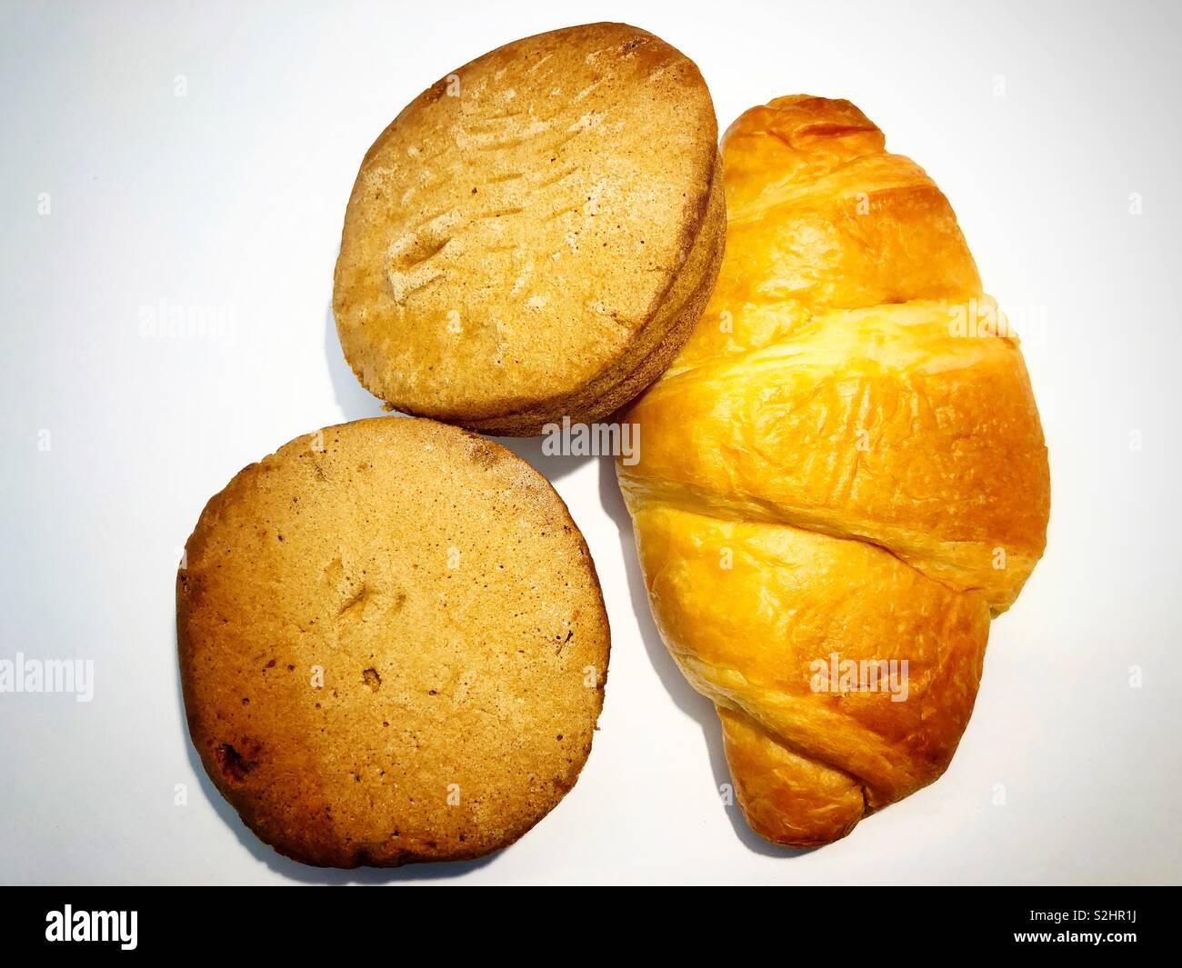 A croissant and mocha mamons - Stock Image