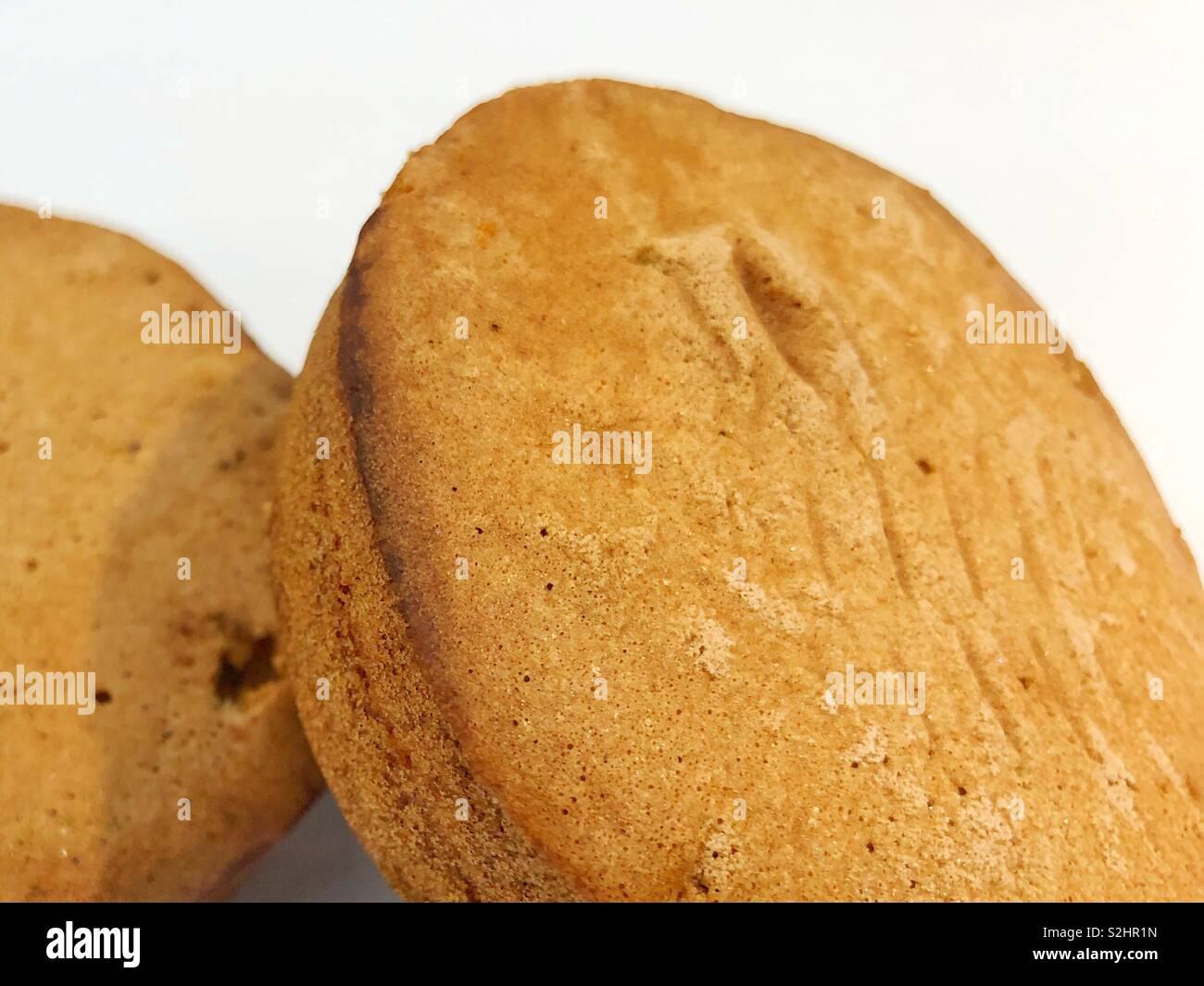 Close up mocha mamon - Stock Image