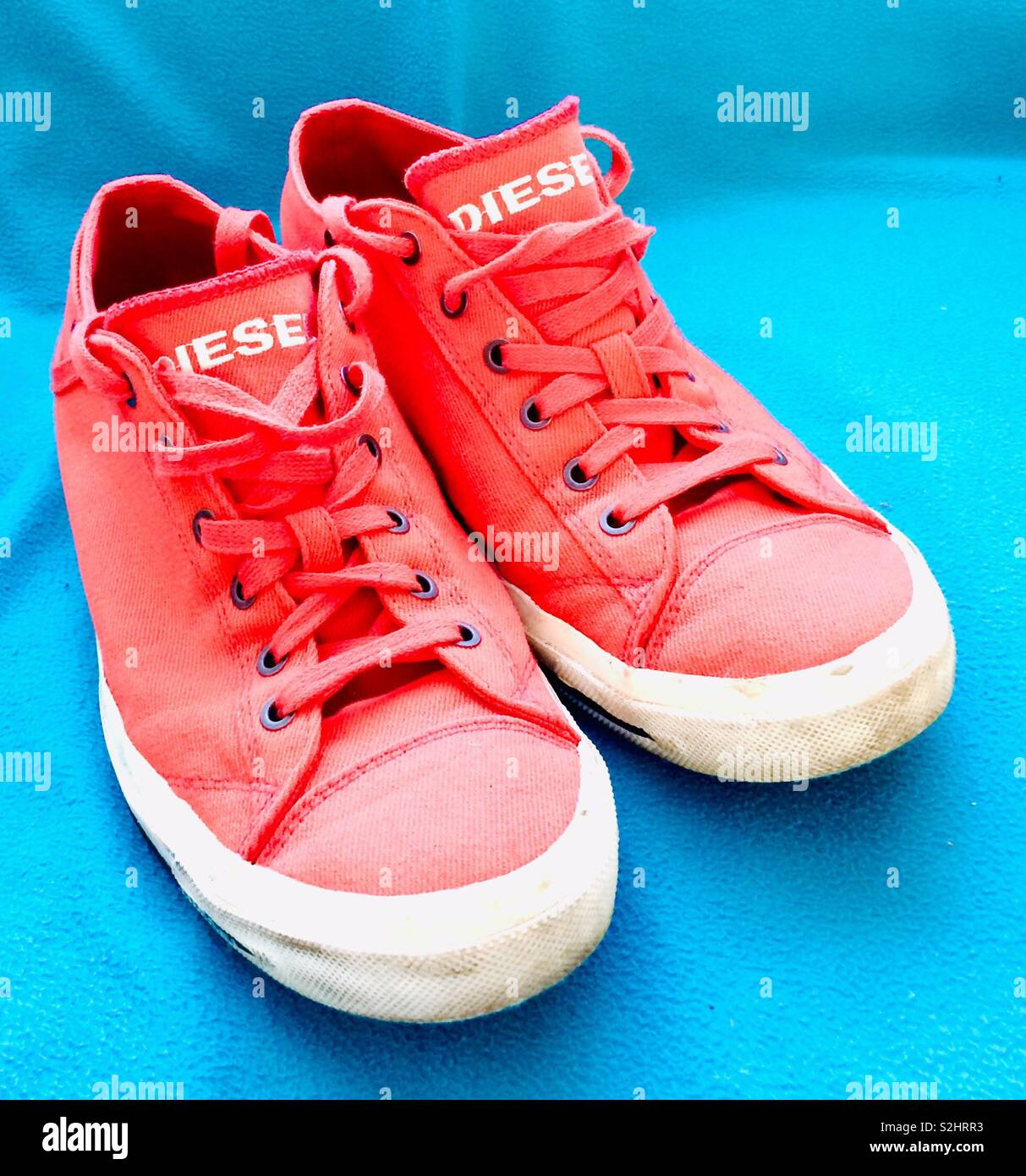 Bright canvas shoes. Diesel brand