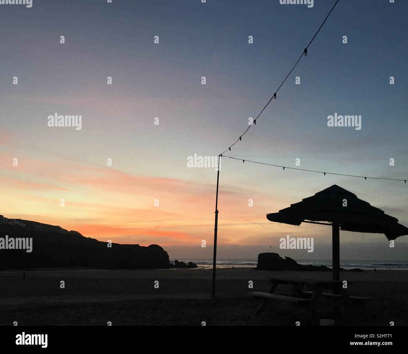 Sunset at Perranporth - Stock Image