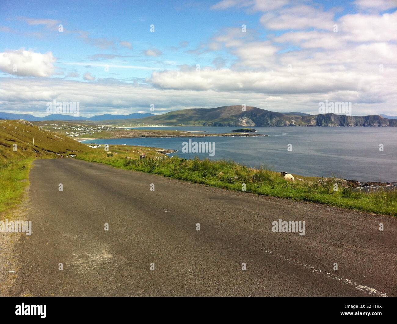 View from the roadside, Achill Island, County Mayo, Ireland. - Stock Image