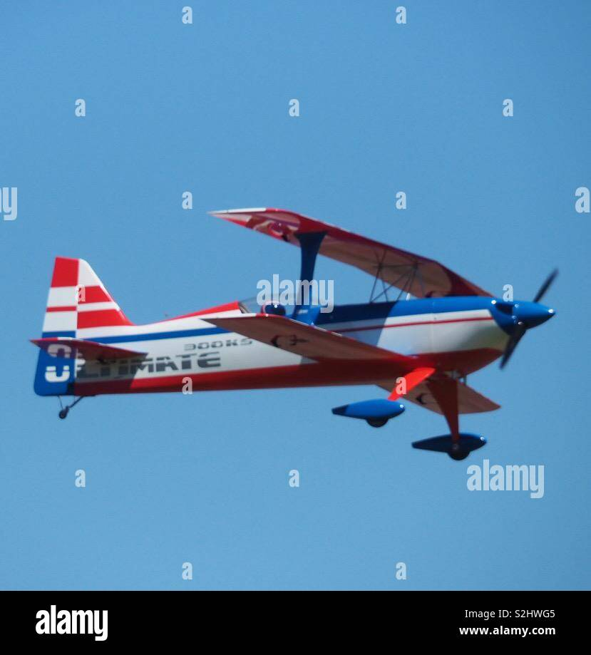Remote controlled airoplane . A hobby of my father - Stock Image