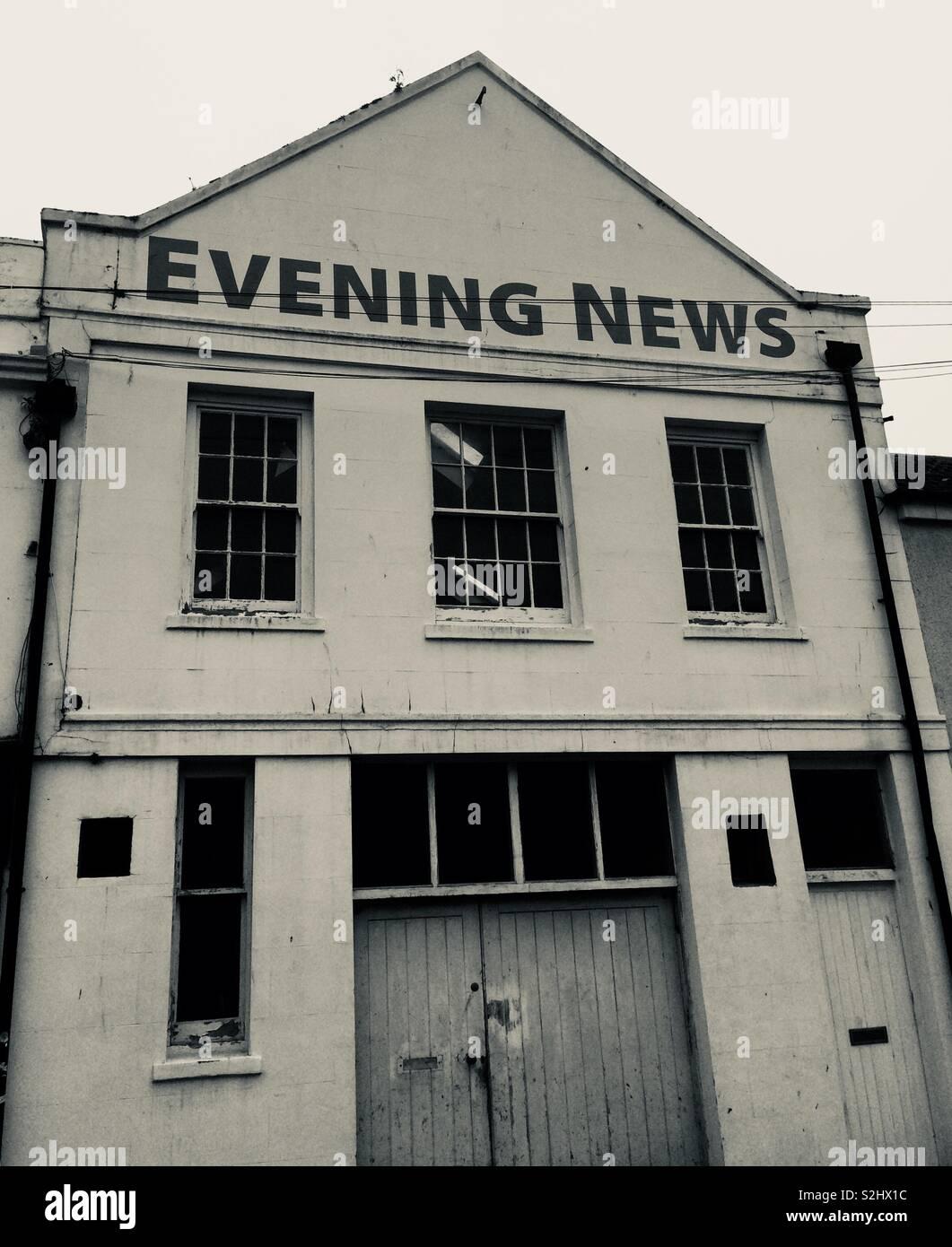 Disused newspaper building, Brighton, UK. Stock Photo