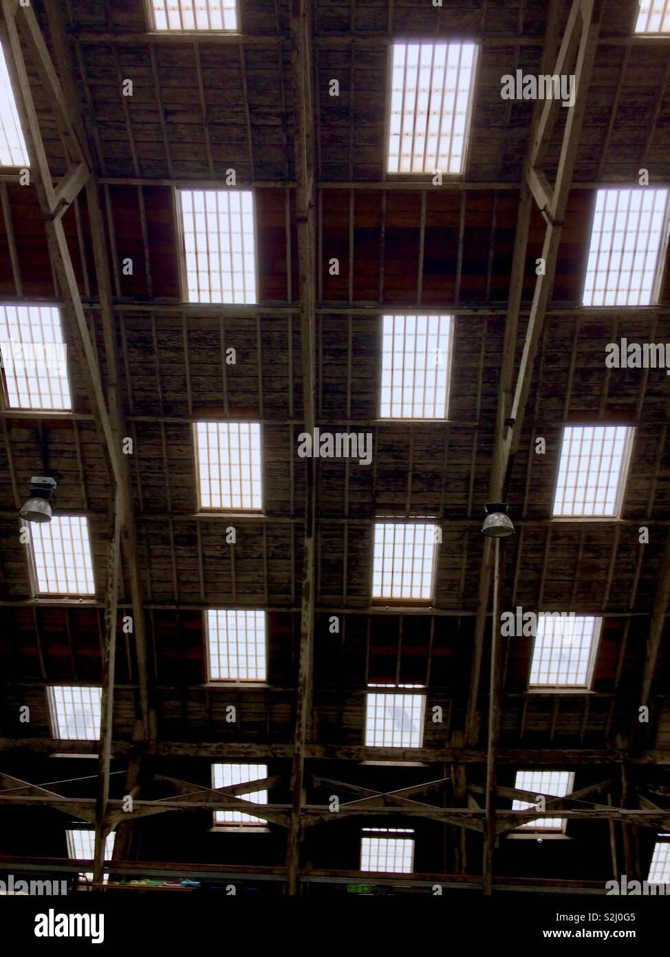 Ceiling at Chatham Historic Dockyard - Stock Image