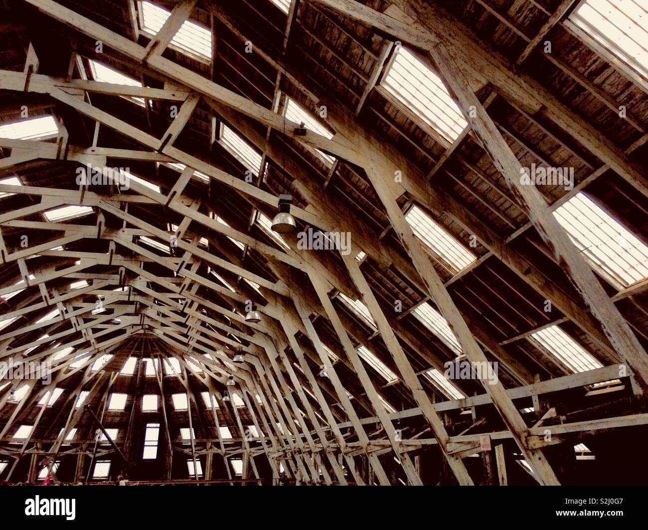 Roof at Chatham historic Dockyard - Stock Image