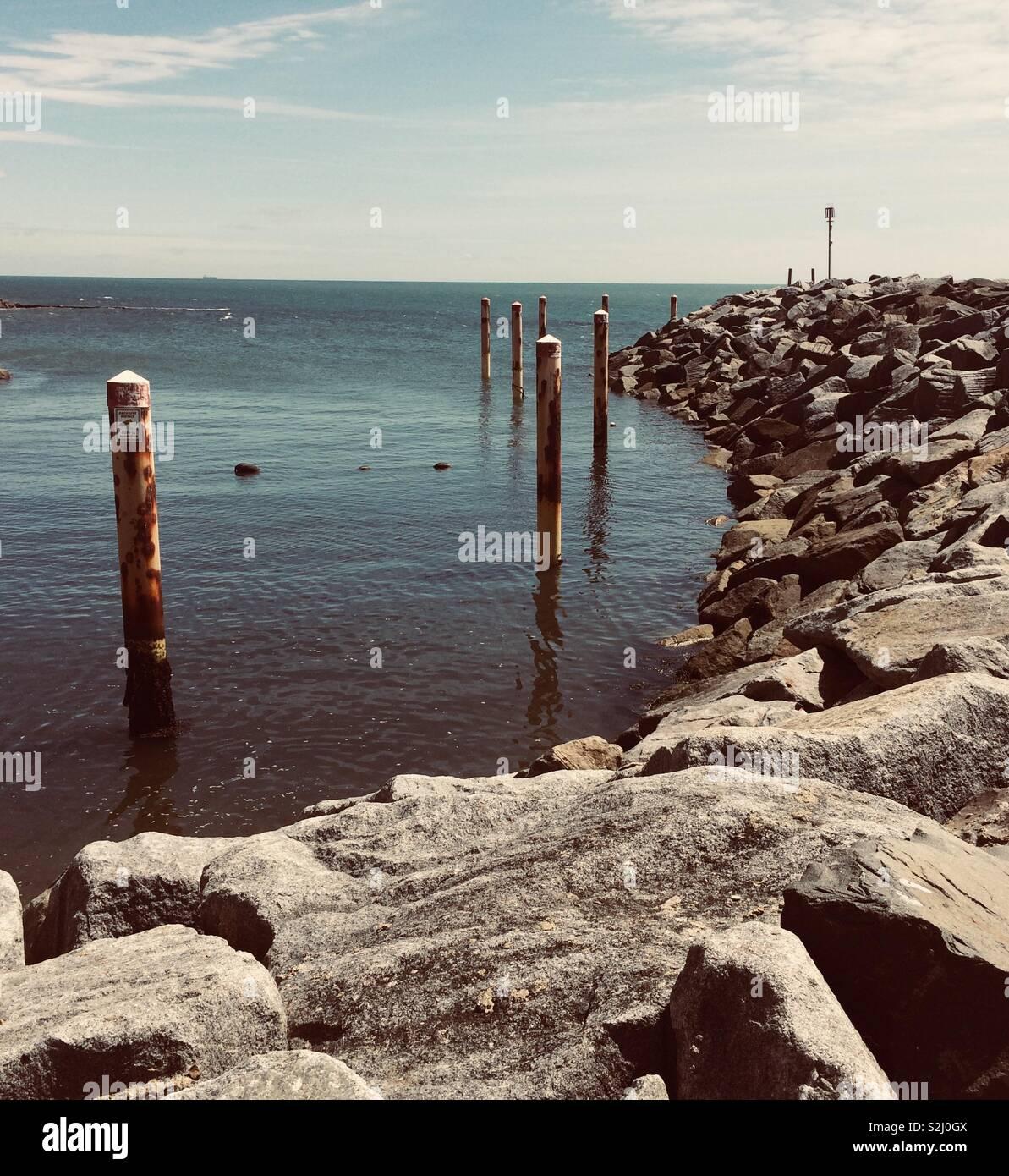 Ventnor harbour, Isle of Wight, UK. Stock Photo