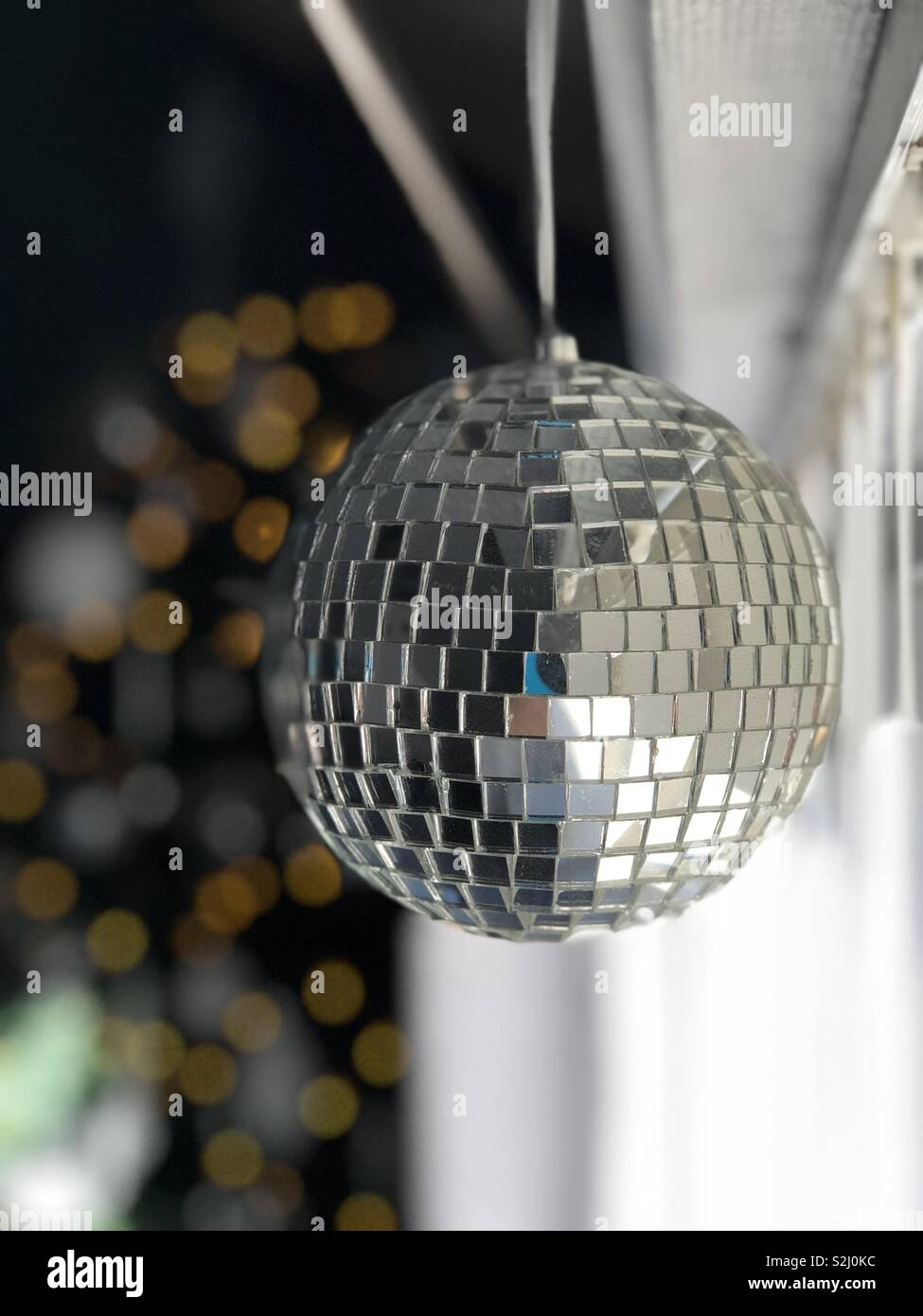 Christmas disco ball. - Stock Image