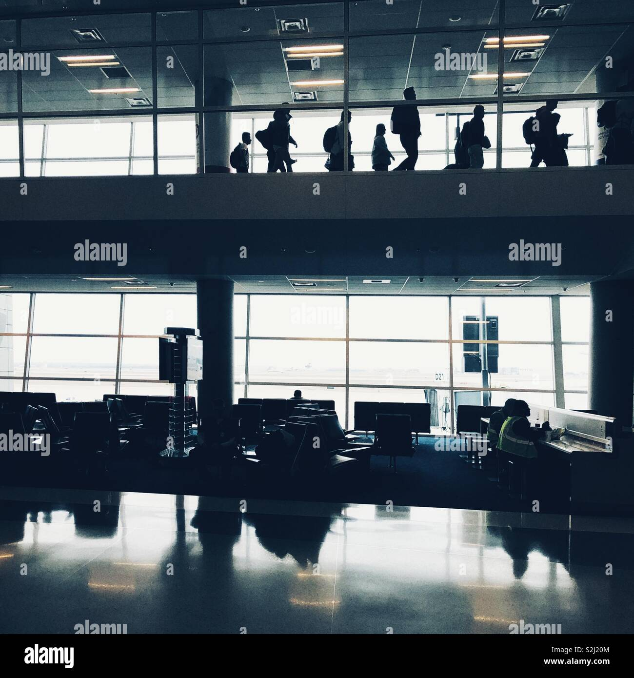 Endless airports - Stock Image