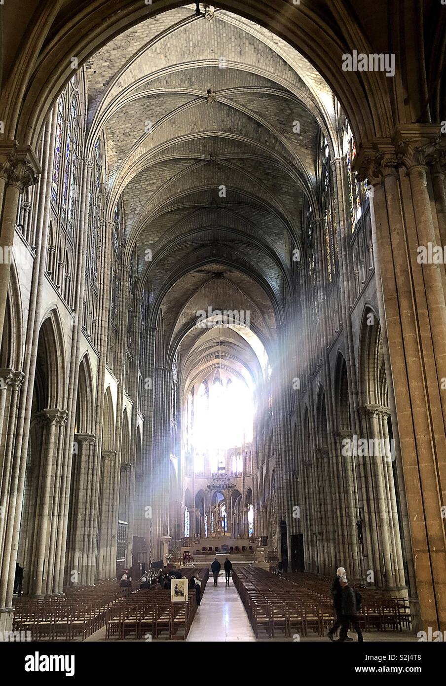 Light in a cathedral - Stock Image