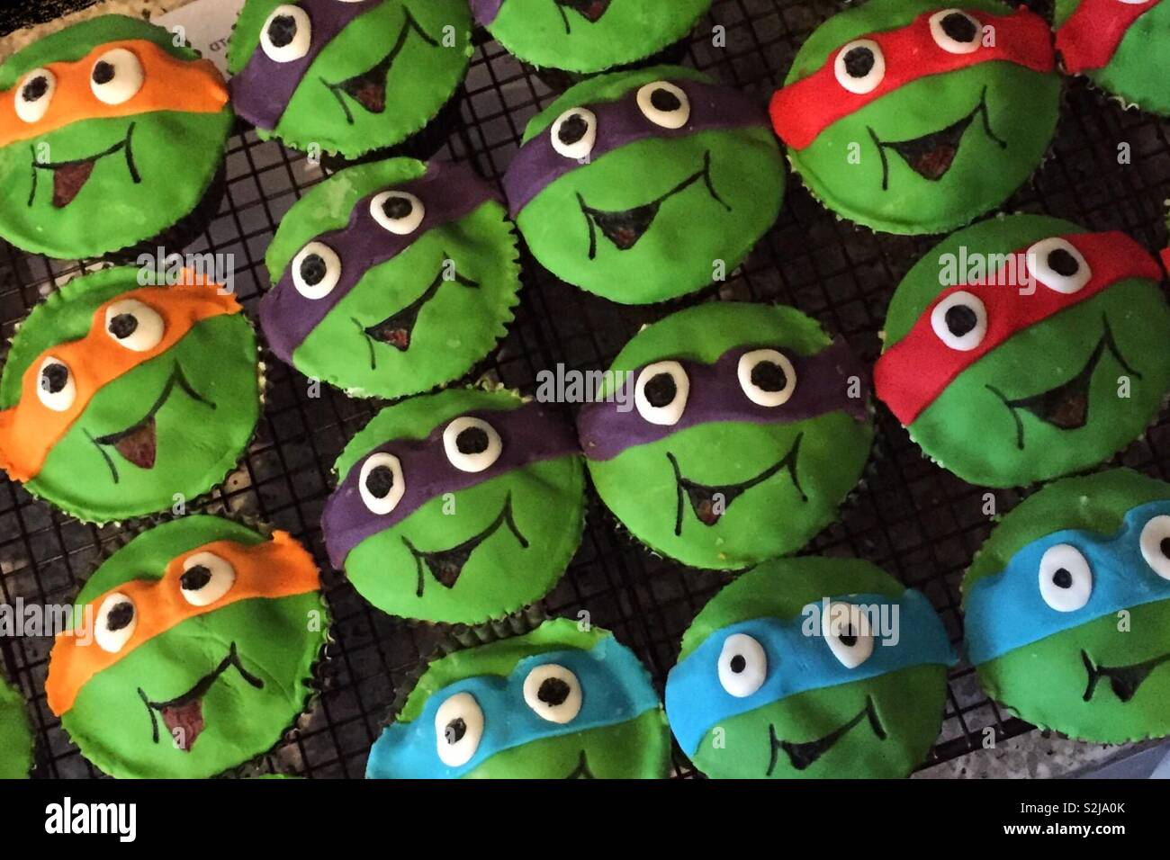 Kids Cakes For A Party Decorated In The Style Of Teenage Mutant Ninja Turtles Royal Icing Homemade Baking Birthdays