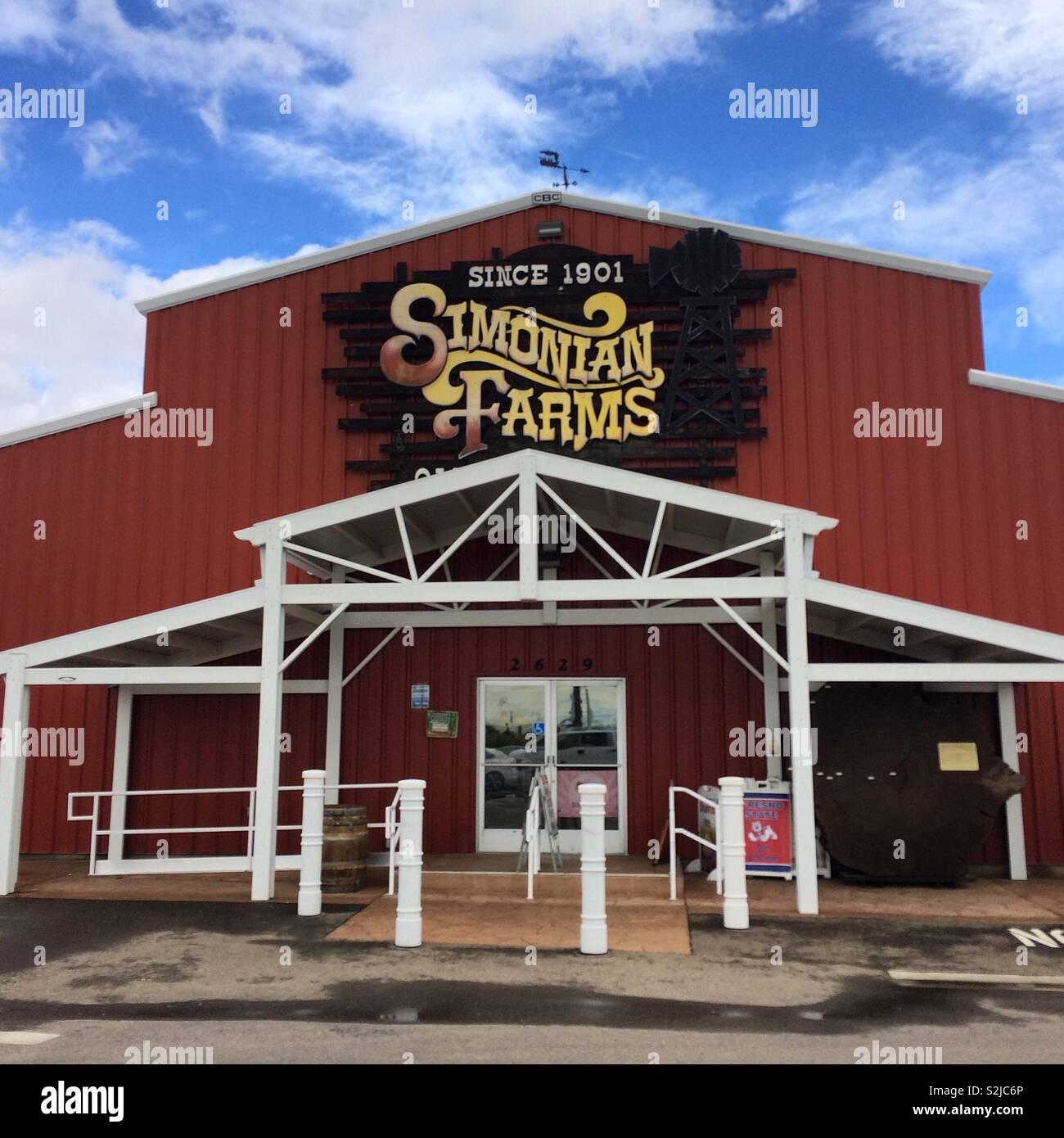 Simonian Farms Fresno California United States Stock Photo Alamy
