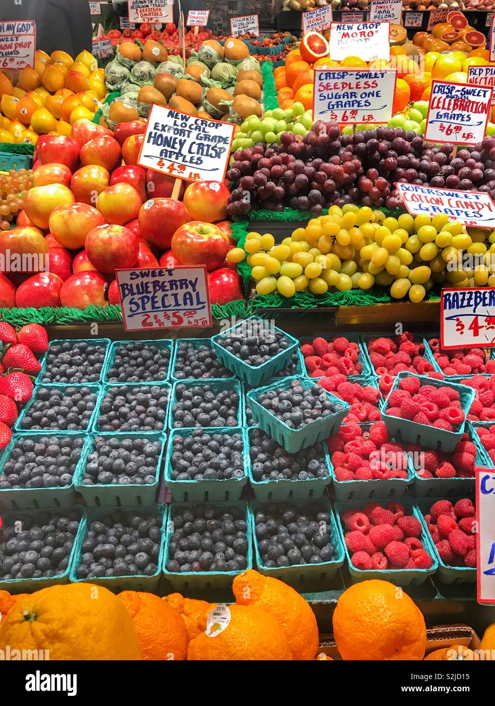 Fruits and vegetable at pikes market in Seattle Washington Stock Photo