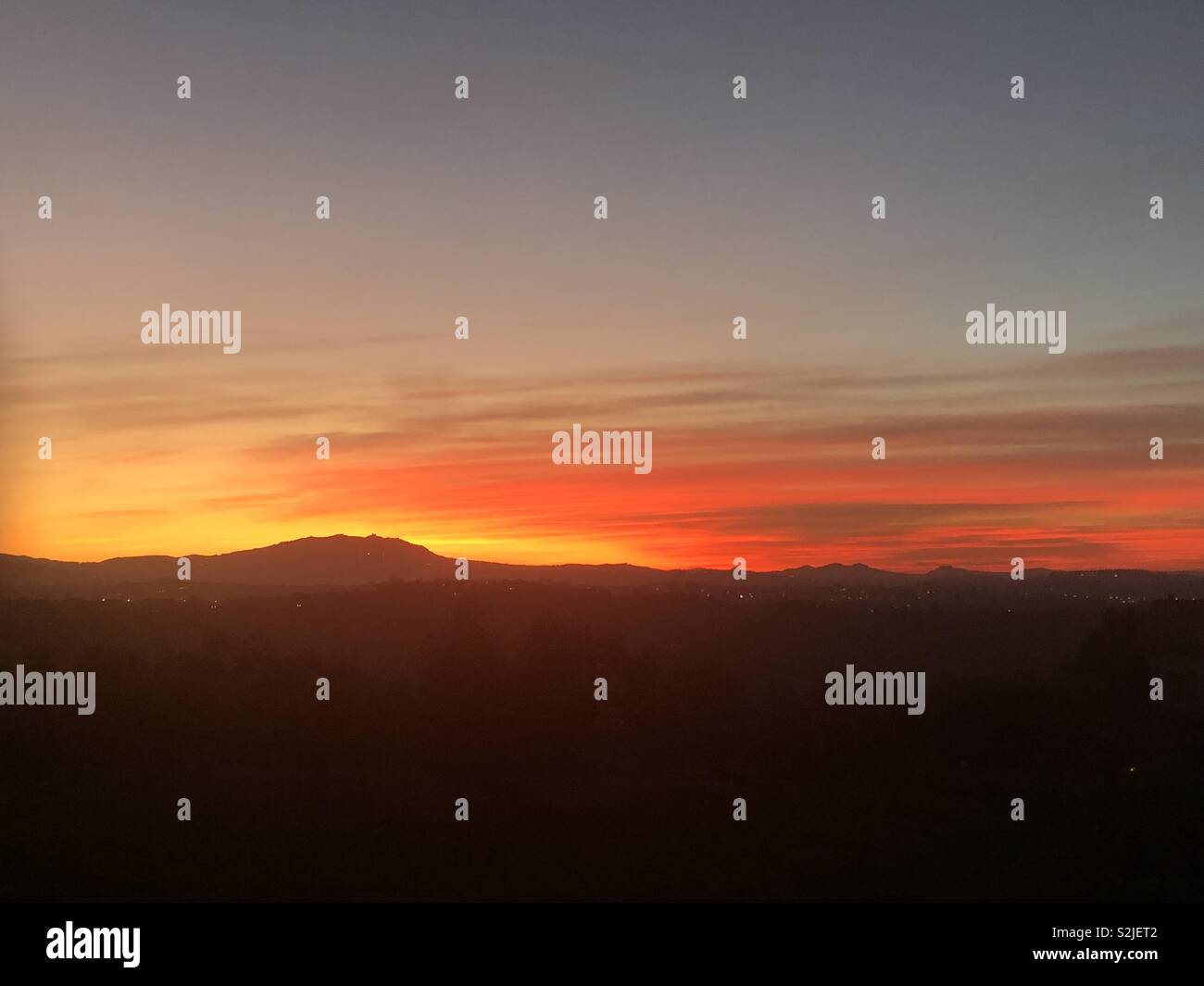 The Sky is burning 🔥 - Stock Image