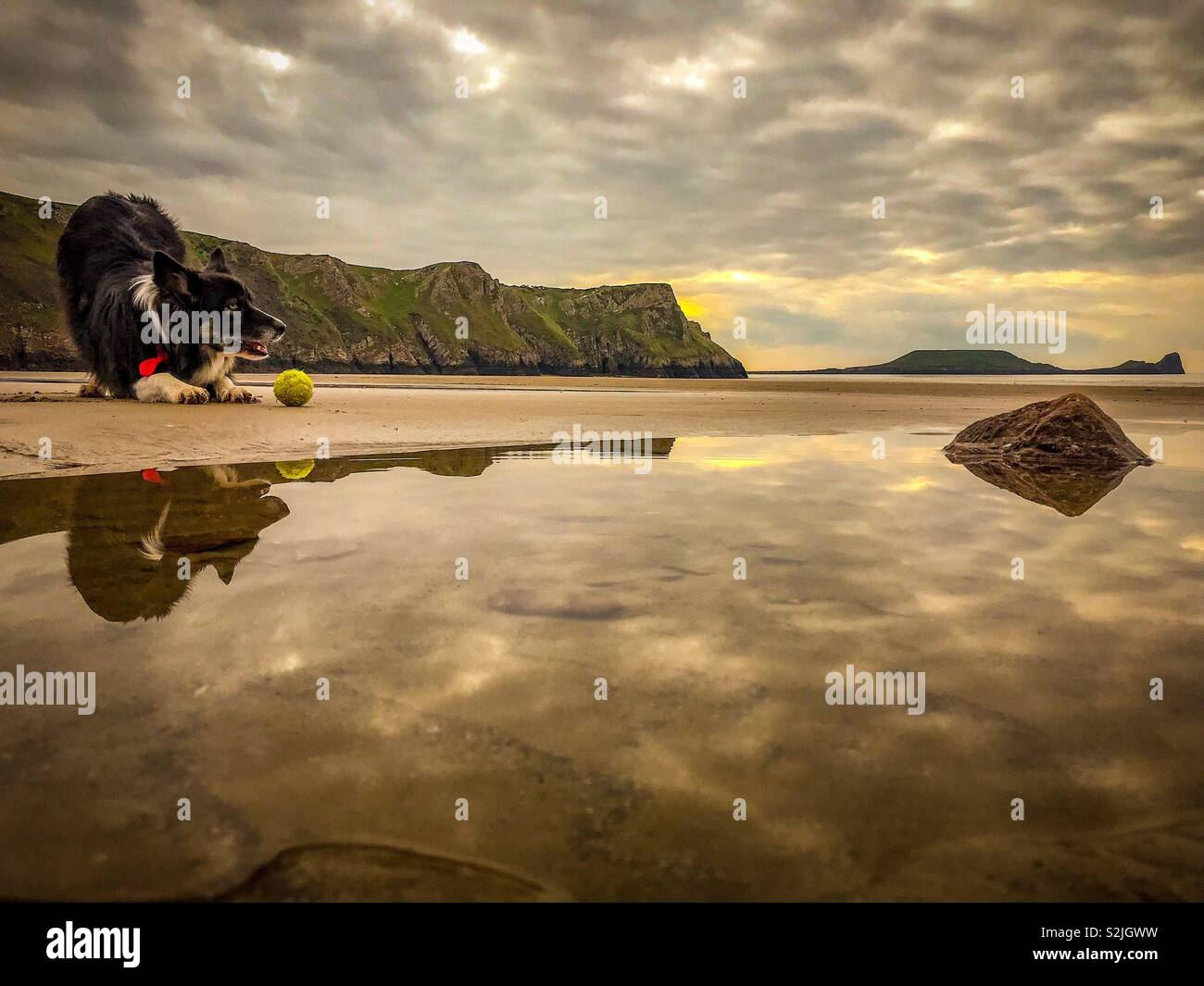 Gower gives you time to reflect - Stock Image
