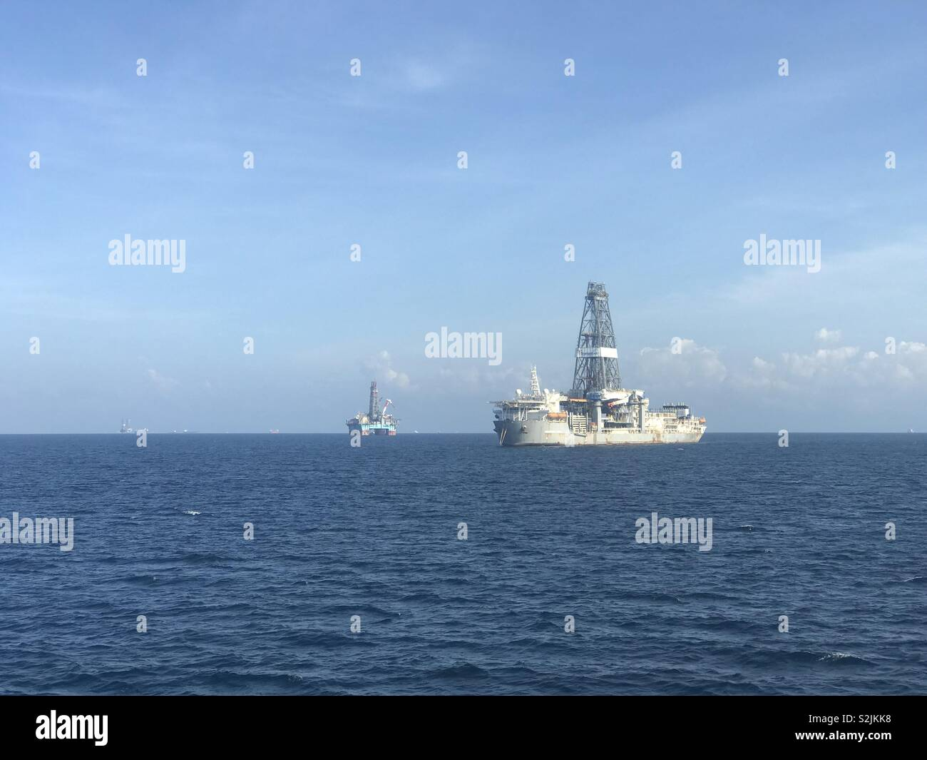 Oil and gas ship - Stock Image