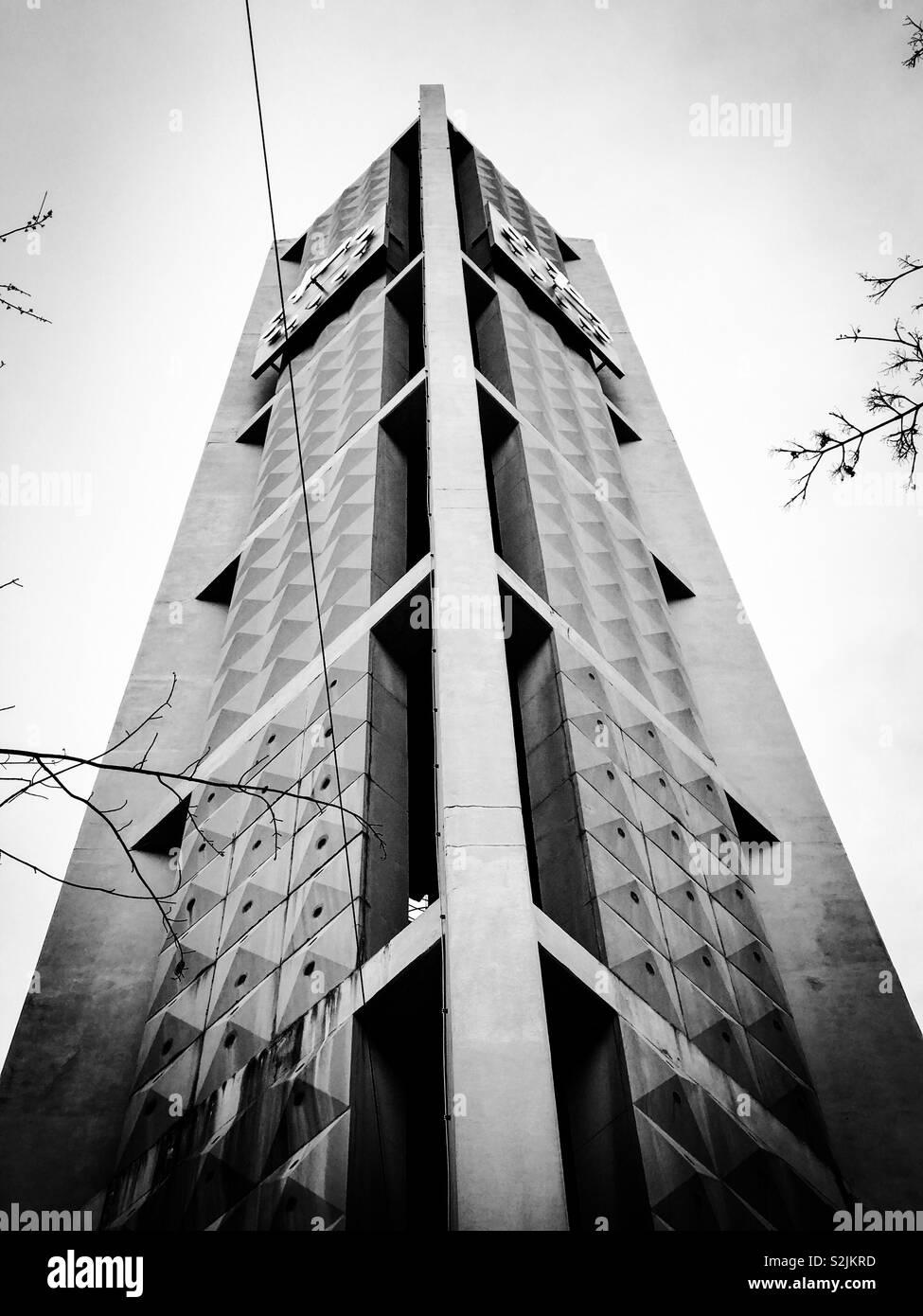 Modern Church Tower - Stock Image