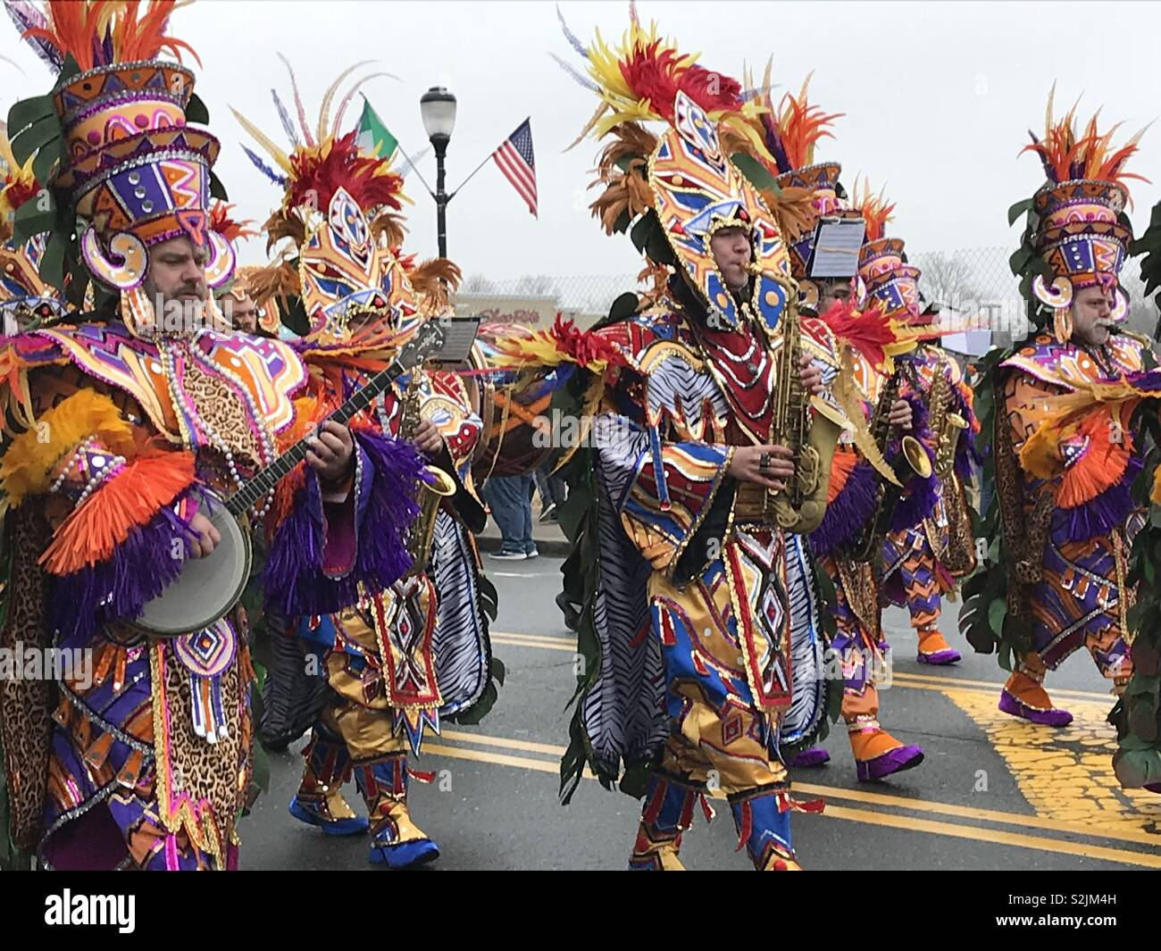 Mummers, Somerville, St. Patrick's Day, parade - Stock Image