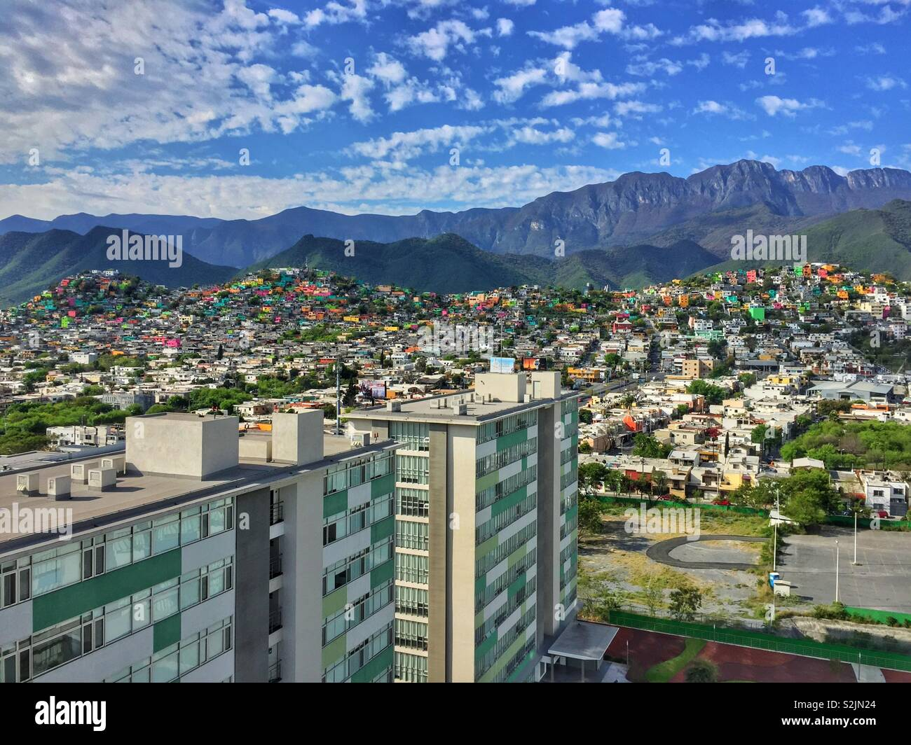 Cityscape of Monterrey, Mexico Stock Photo