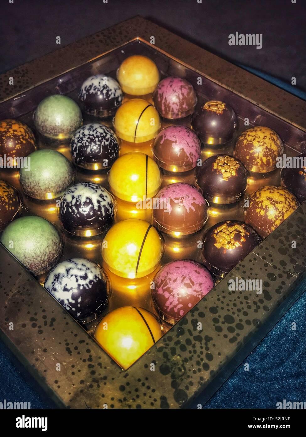 Posh chocolates - Stock Image