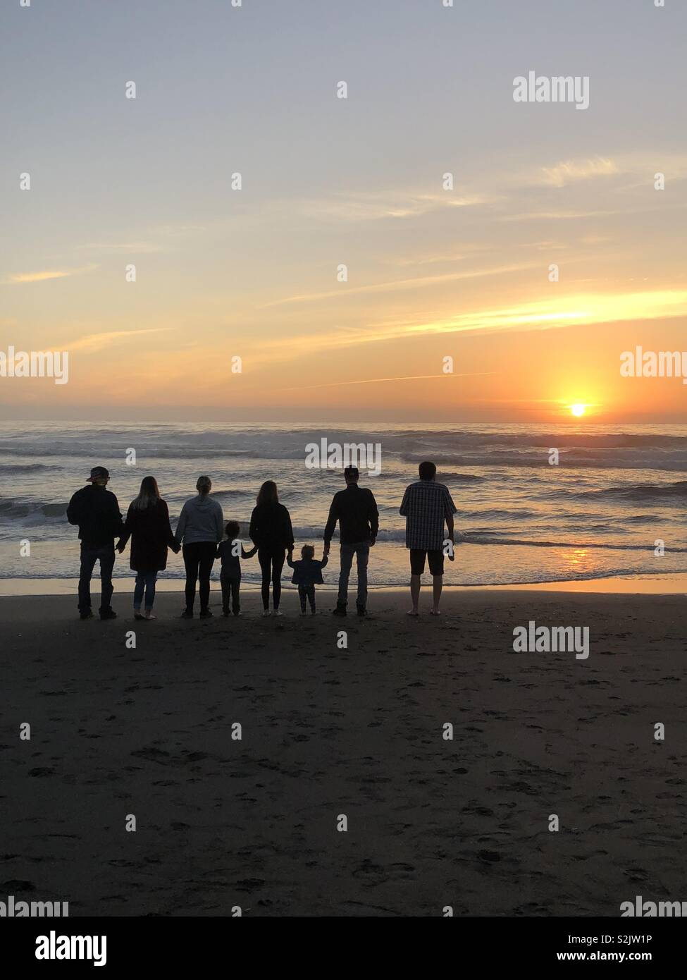 Family coast life - Stock Image