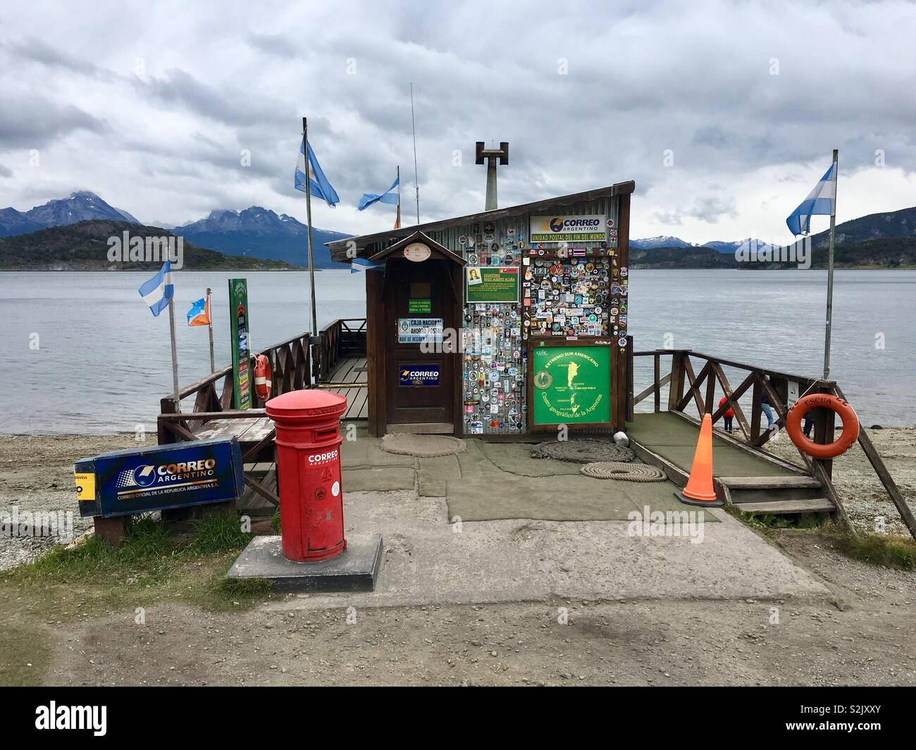 Southern most Post office on mainland of Southamerica on Beagle canal west of Ushuaia, Fireland, Argentina. - Stock Image