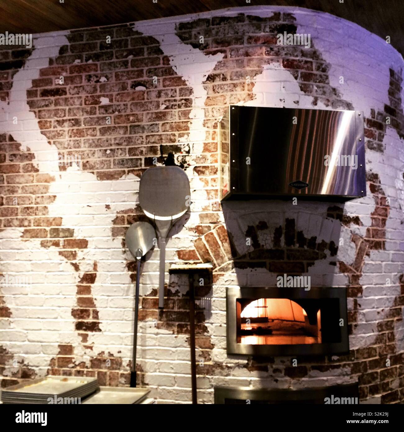 Brick oven, Cal Mare, MGM Springfield, Springfield, Massachusetts, United States - Stock Image