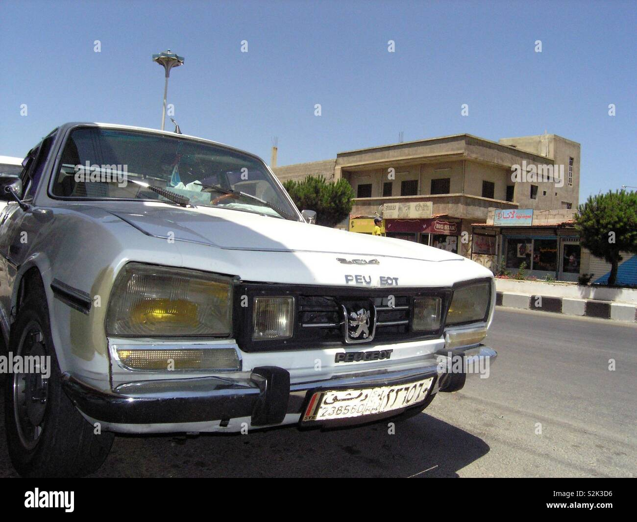 Old Model Of Peugeot 504 On Syrian Street Stock Photo Alamy
