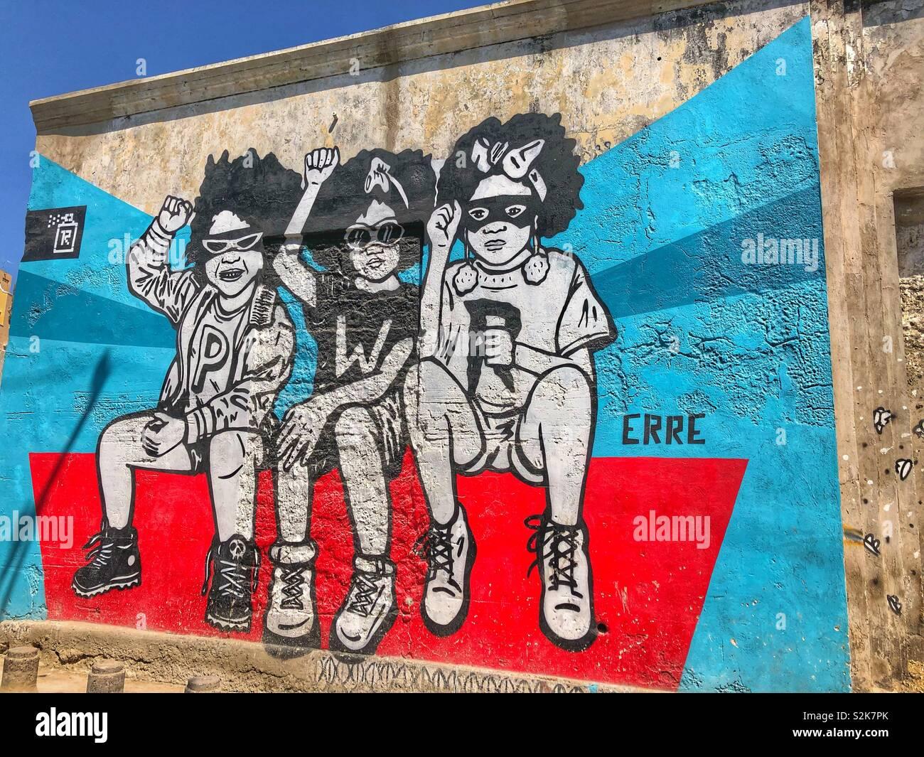Belle Urban street art in the Getsemani neighbourhood in Cartagena FX-31