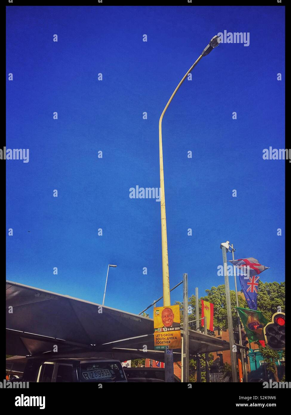 ANC election poster on lamppost, Cape Town, South Africa. - Stock Image