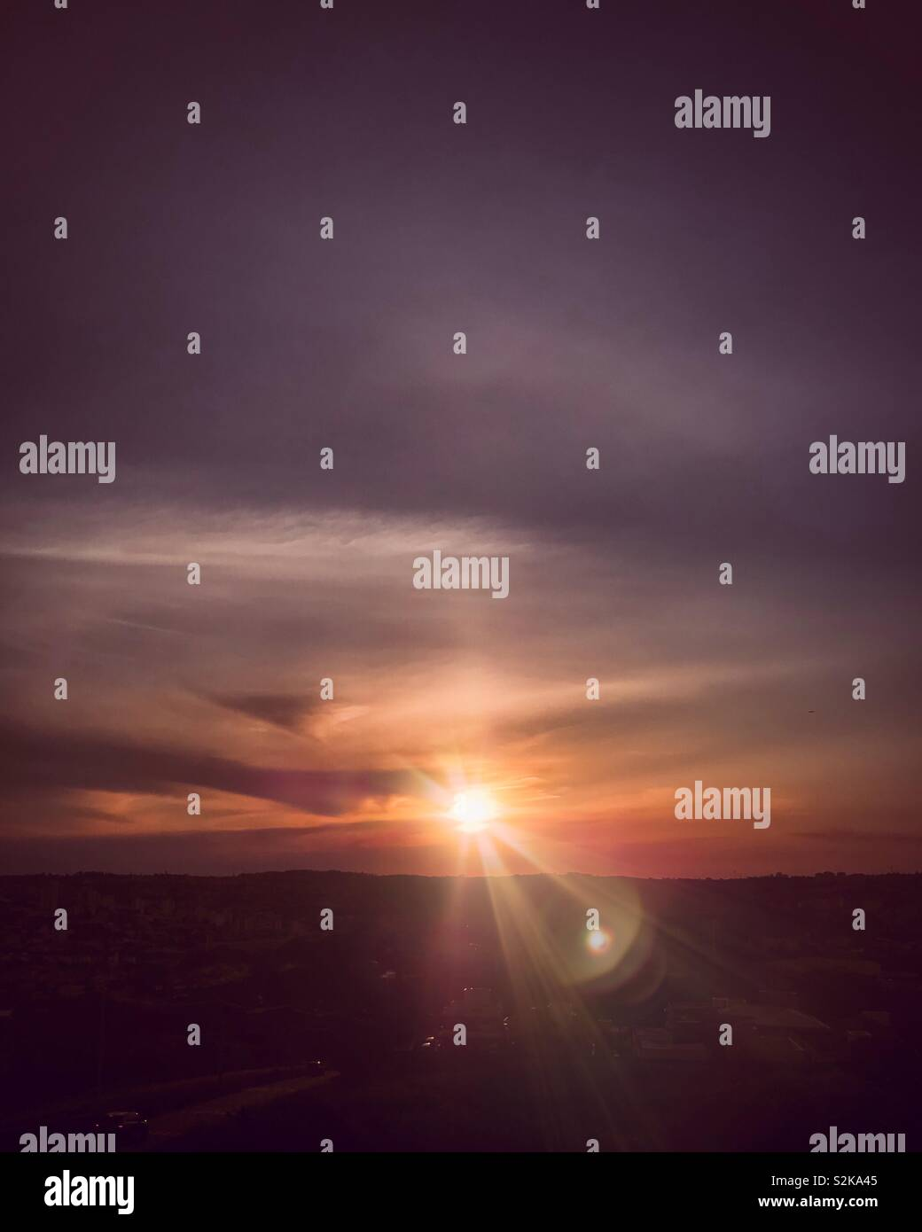 Beautiful and colorful sunset Stock Photo