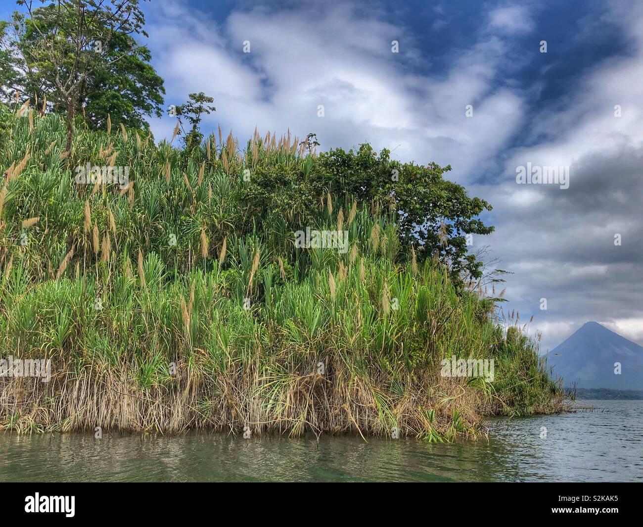 Lake Arenal in Costa Rica. - Stock Image