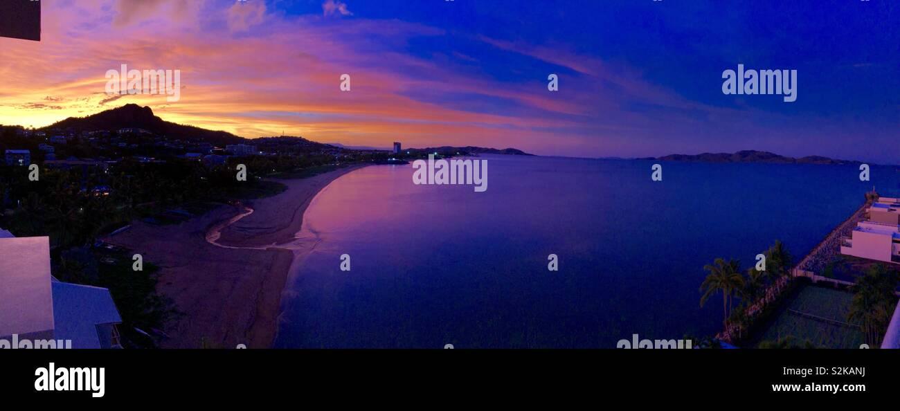 Beautiful sunset North Queensland - Stock Image