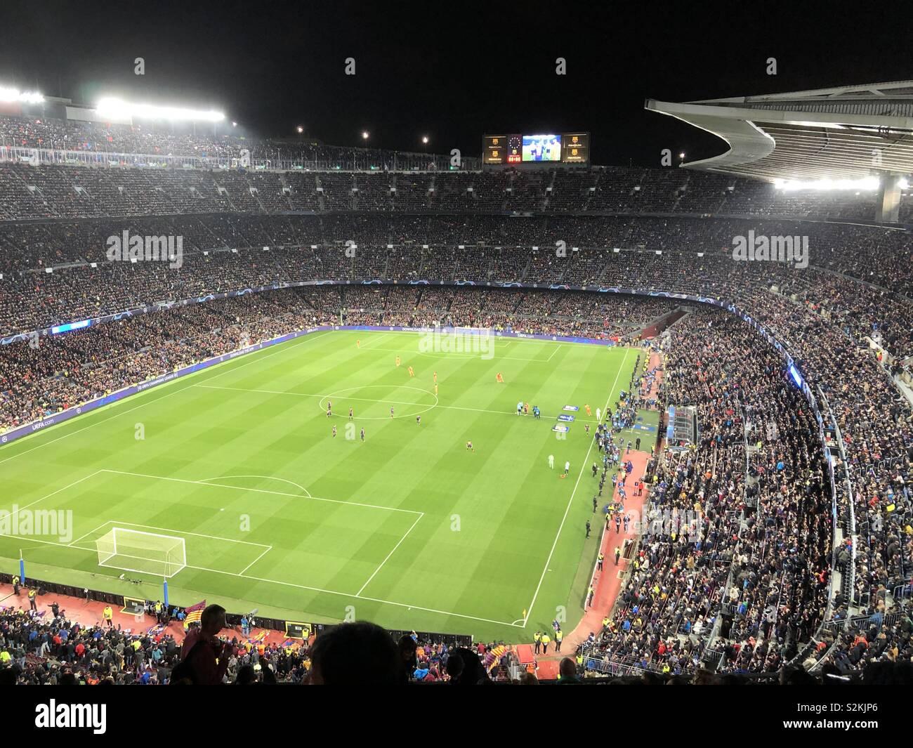 Camp Nou Champions League Second League - Stock Image