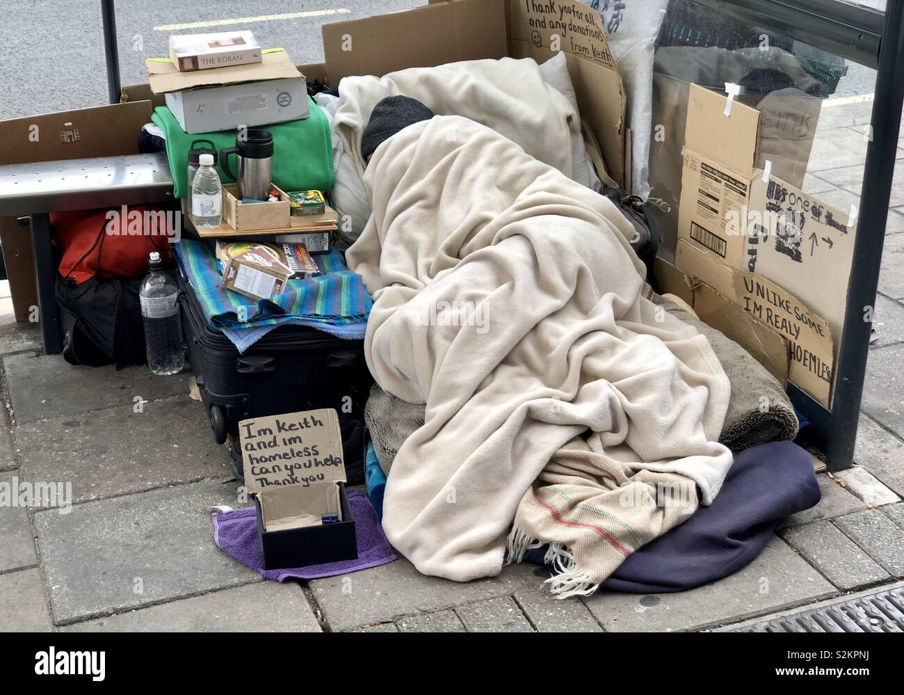 Homelessness in the UK. - Stock Image