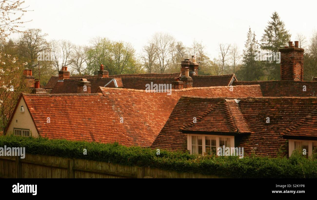 West Wycombe roofscape - Stock Image