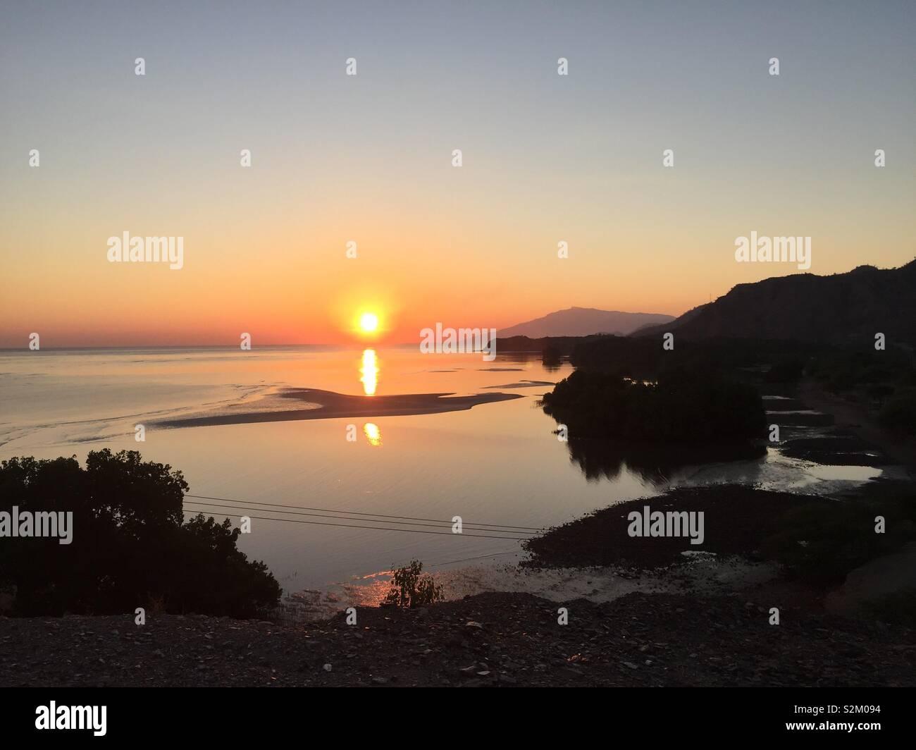Sunrise in Dili, Timor Leste Stock Photo