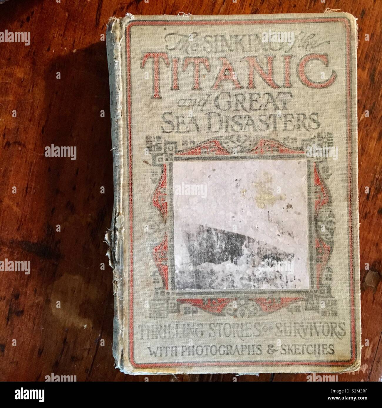 Old book about The Titanic and sea disasters Stock Photo