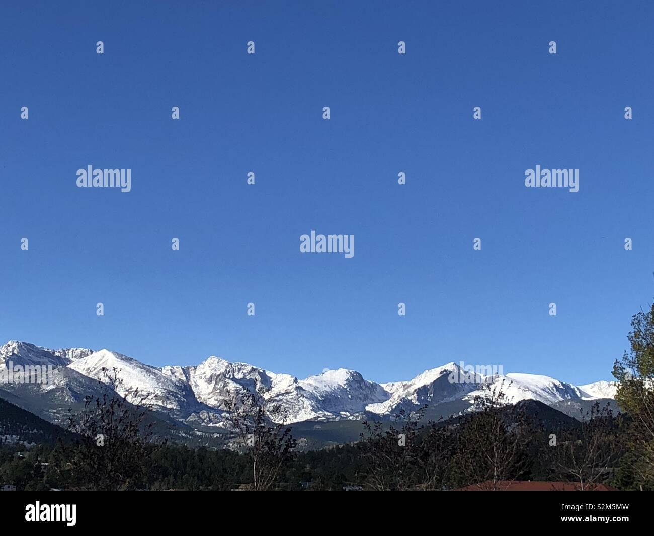 Colorado Mountains Estes Park - Stock Image